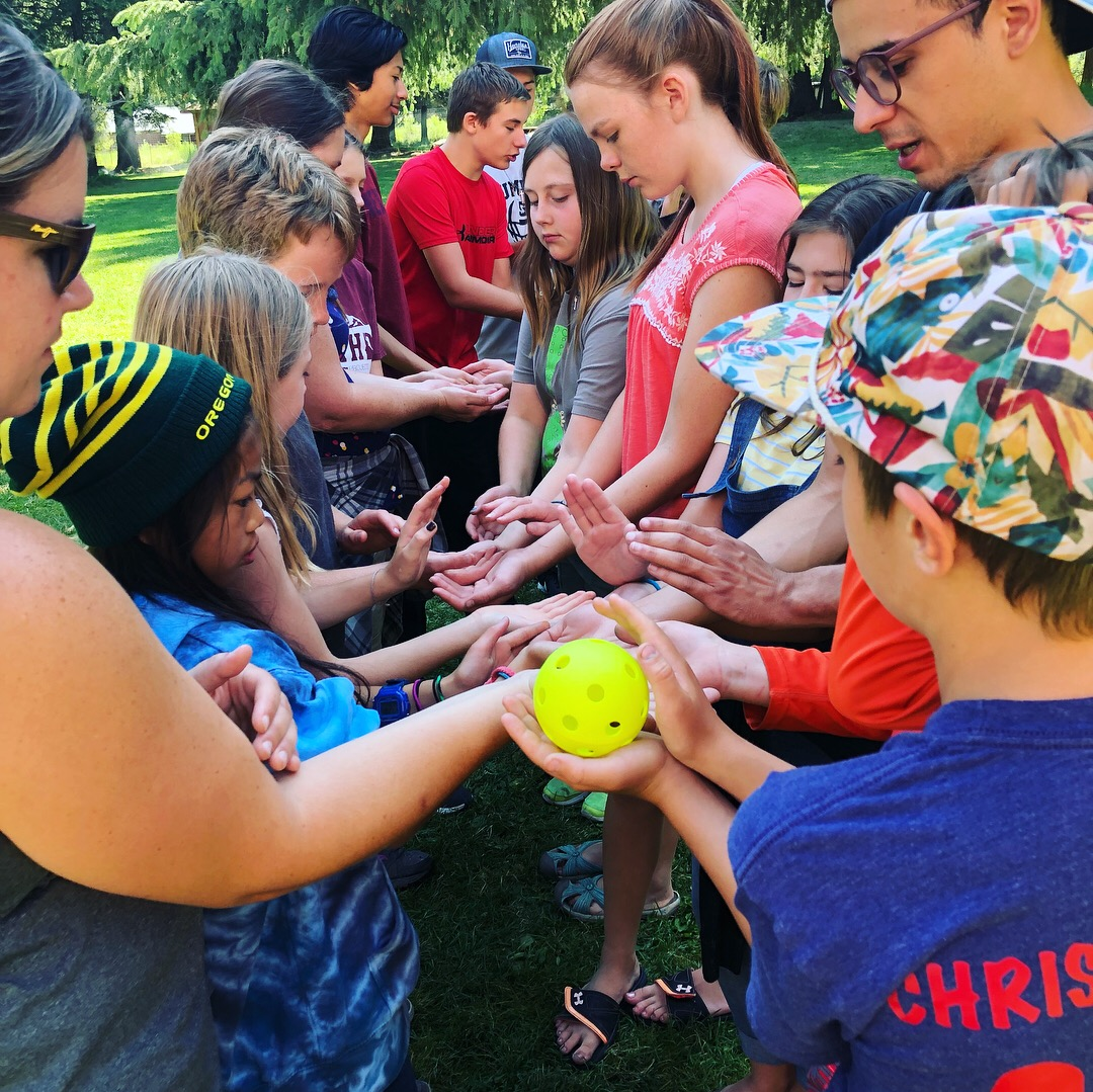 Optional team building games at camp!