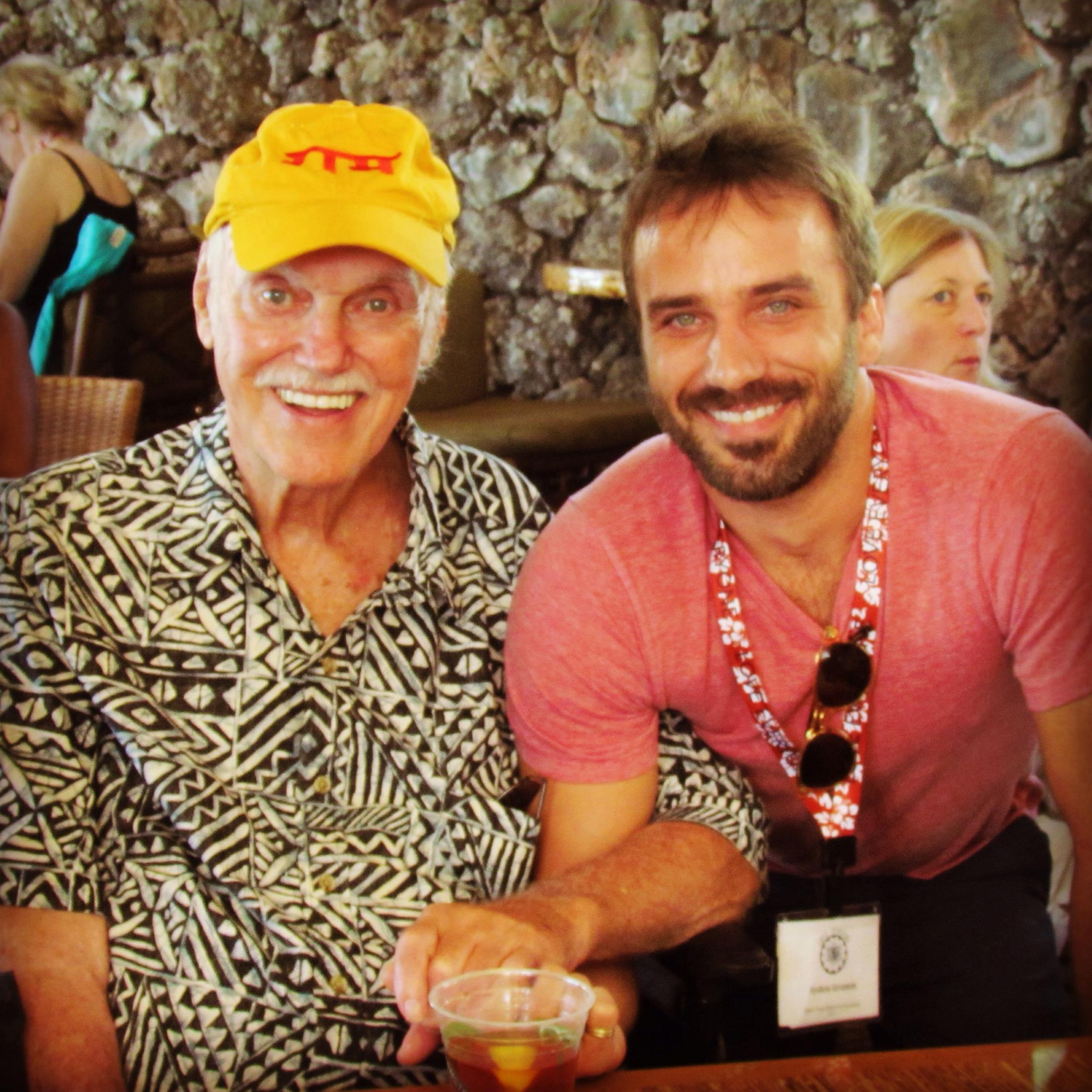Ram Dass and I at the retreat
