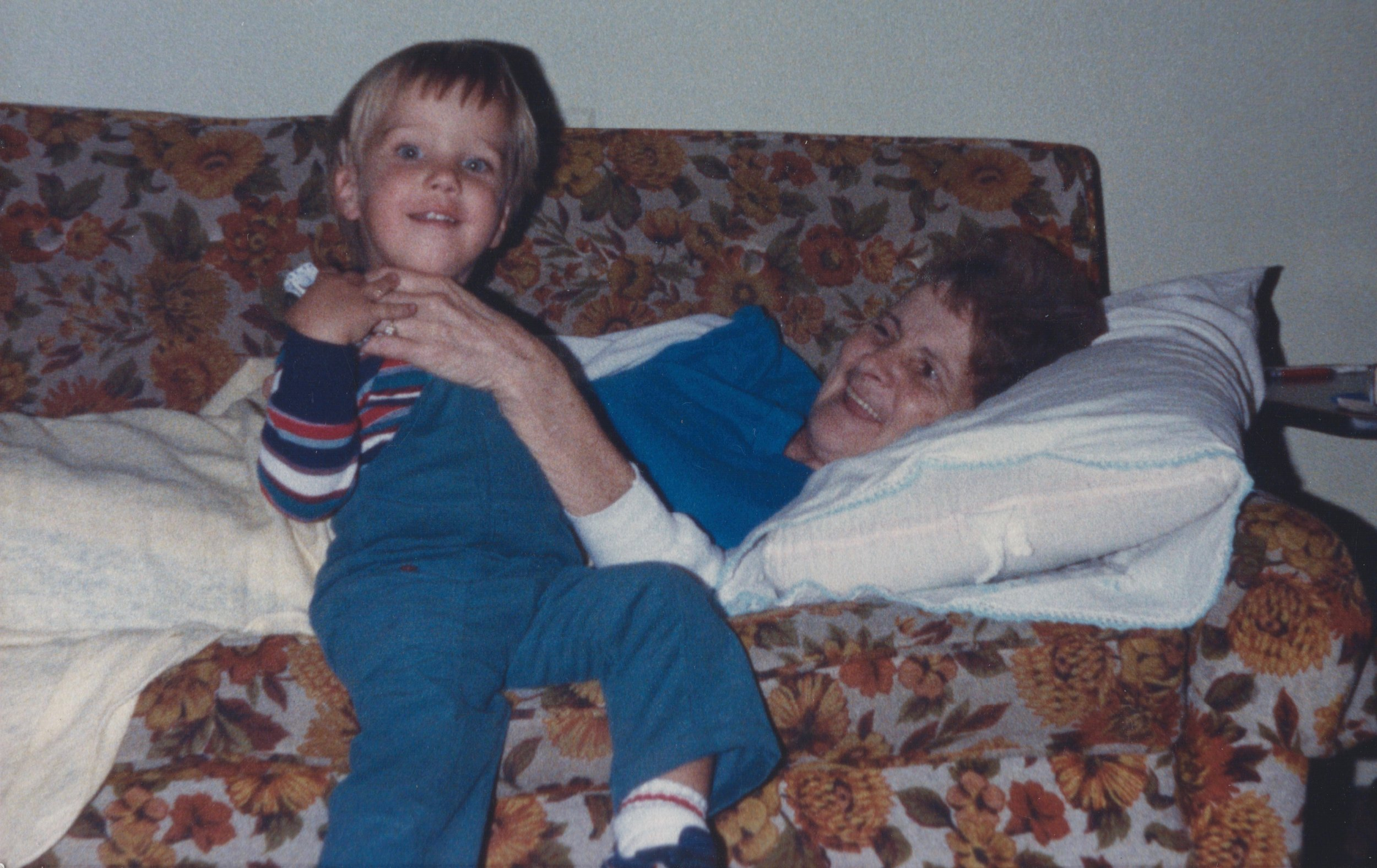Grandma and I just after her stroke.