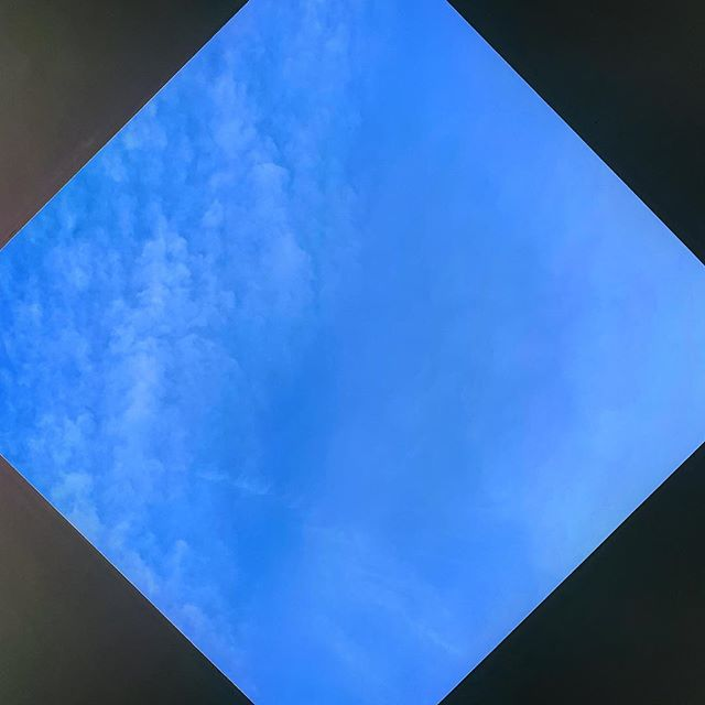 """""""Science strives for answers, but art is happy with a good question."""" ~ James Turrell This photo of his Ringling installation, Joseph's Coat, does not sufficiently communicate the experience, his intended effect of contemplation, perception.  #jamesturrellskyspace #jamesturrell #ringlingmuseum #sky #light #sarasota #art #love #askquestions #peace #florida #skyspace #artinstallation #contemplation #meditation #yoga #josephscoat #josephstechnicolourdreamcoat"""