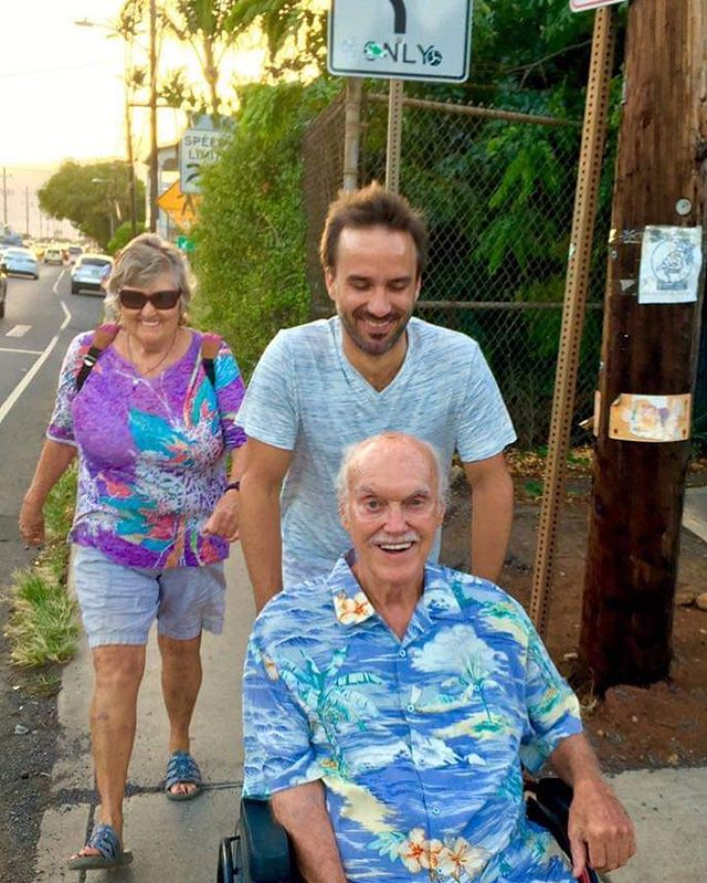 Happy birthday, Ram Dass! 88. The example you lead is oh so rare. I learn mostly from your actions rather than your words. You've been like a father to me. Thank you for all you've given me and continue to give.  @babaramdass @dassima108 @lakshmandler . . . . . . . . #love #bhaktiyoga #compassion #loveserveremember #peace #ramdass #beherenow #yoga #meditation #belovenow #gratitude #maui #hawaii #teacher #service #caregiver #joy #wonderful #maharajji #hanuman #neemkarolibaba