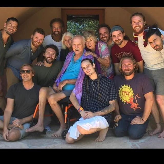 Family. All of us caregivers over the years. How fortunate we've all been to spend such intimate time with and while learning from the actions of @babaramdass . His teachings, for me, always come through his actions. No other teacher I know of that truly walks the talk more. I've seen it first hand 24 hours a day. Inspiring is an understatement. . The third picture is with Hanuman Das who runs the temple in Taos. Dedicated. Truly Hanuman. This man's devotion. . Dassi Ma @dassima108 I share more about Dassi in my previous post. ❤️ . @lakshmandler is with me in the second picture. He lived with and cared for Ram Dass for the last 4 years. Such a good man. It was truly wonderful sharing space with him and  @lucian_being_lucian . All By Maharaji's grace.... . . . Thanks for the photo @johnphaneuf ! . . #ramdass #ramdassquotes #beherenow #belovenow #maharaji #neemkarolibaba #hanuman #taos #temple #hanumantemple #love #peace #yoga #wisdom #experience #spirituality #god #walkthetalk #inspiration #newmexico #desert #family