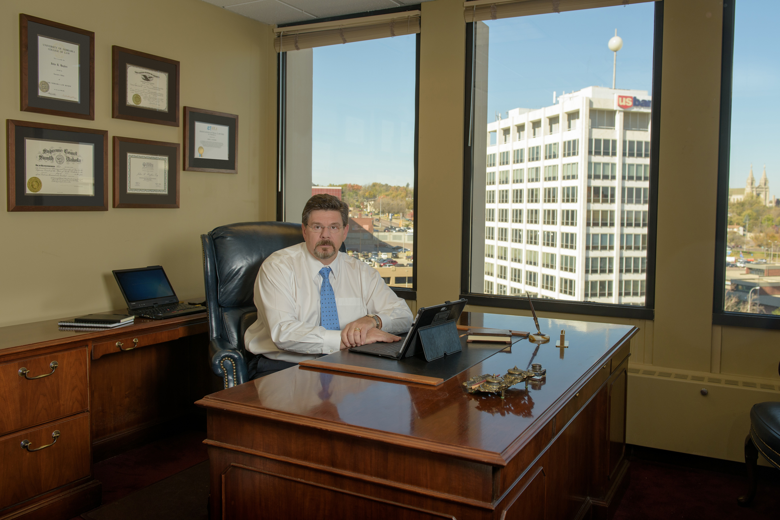 John Hughes in his office – Downtown Sioux Falls