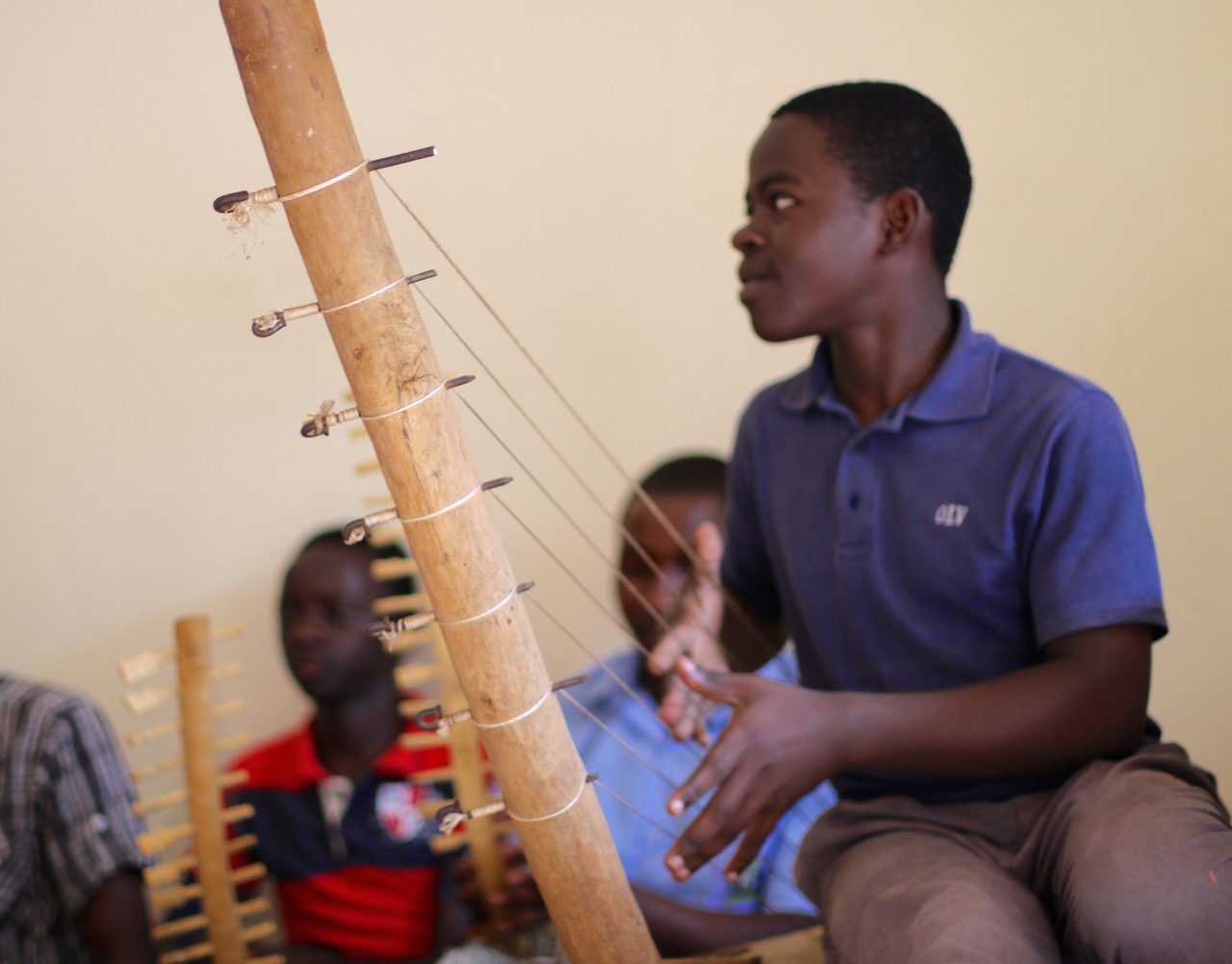 The children and youth at Bitone come from vulnerable economic and social backgrounds. The Center's goal is to equip them with education and vocational training skills so they can stand on their own feet. (In this photo: Alex)