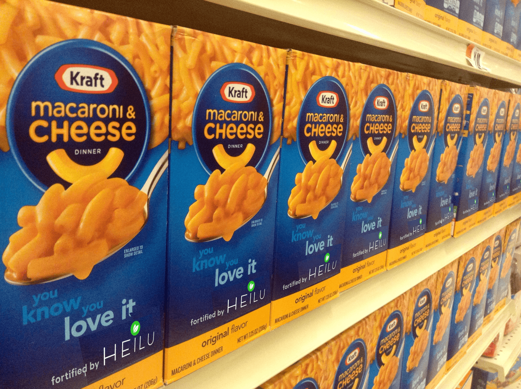 Heilu in Kraft Dinner? Probably not by 2017... (original photo by  Mike Mozart )