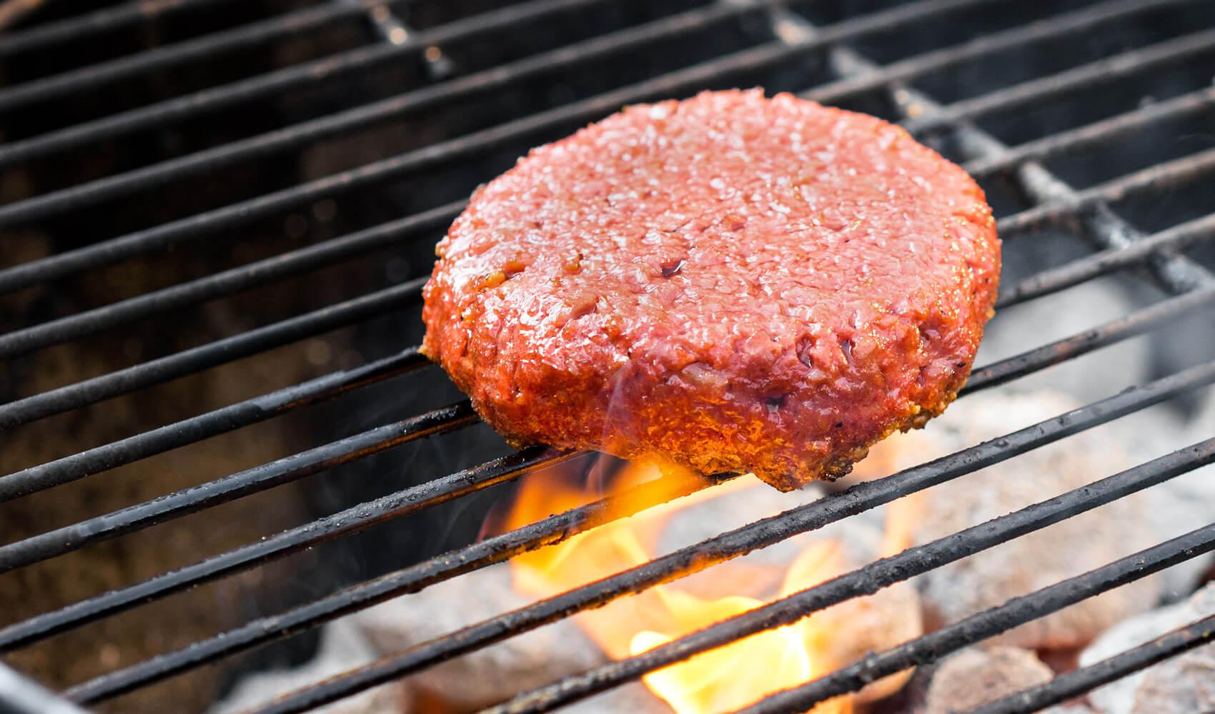 A veggie burger so meaty that vegetarians won't eat it.