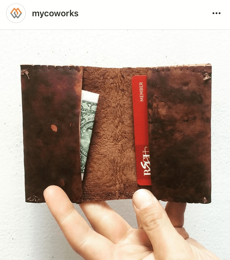 Follow MycoWorks on Instagram  to see all sorts of amazing mushroom leather items they make!