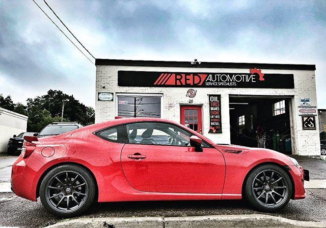 "2018 Subaru BRZ with @superspeedwheel 18"" matte gunmetal @pirelli Tires 235/35 and Muteki SR48 Lug nuts Candy Red.  __________________________________ 📧:contact@redautomotive.ca 📞:519.781.1711 🌎:www.redautomotive.ca 📍:25 Weber St. North. Waterloo, Ont. Canada __________________________________ #subarubrz #subaru #pirellitires #pirellipzero #kw #kwawesome #wrawesome #performance #customexhaust #tiresandrims #uwaterloo #redautomotive #performanceshop #conestogacollege #n0club"