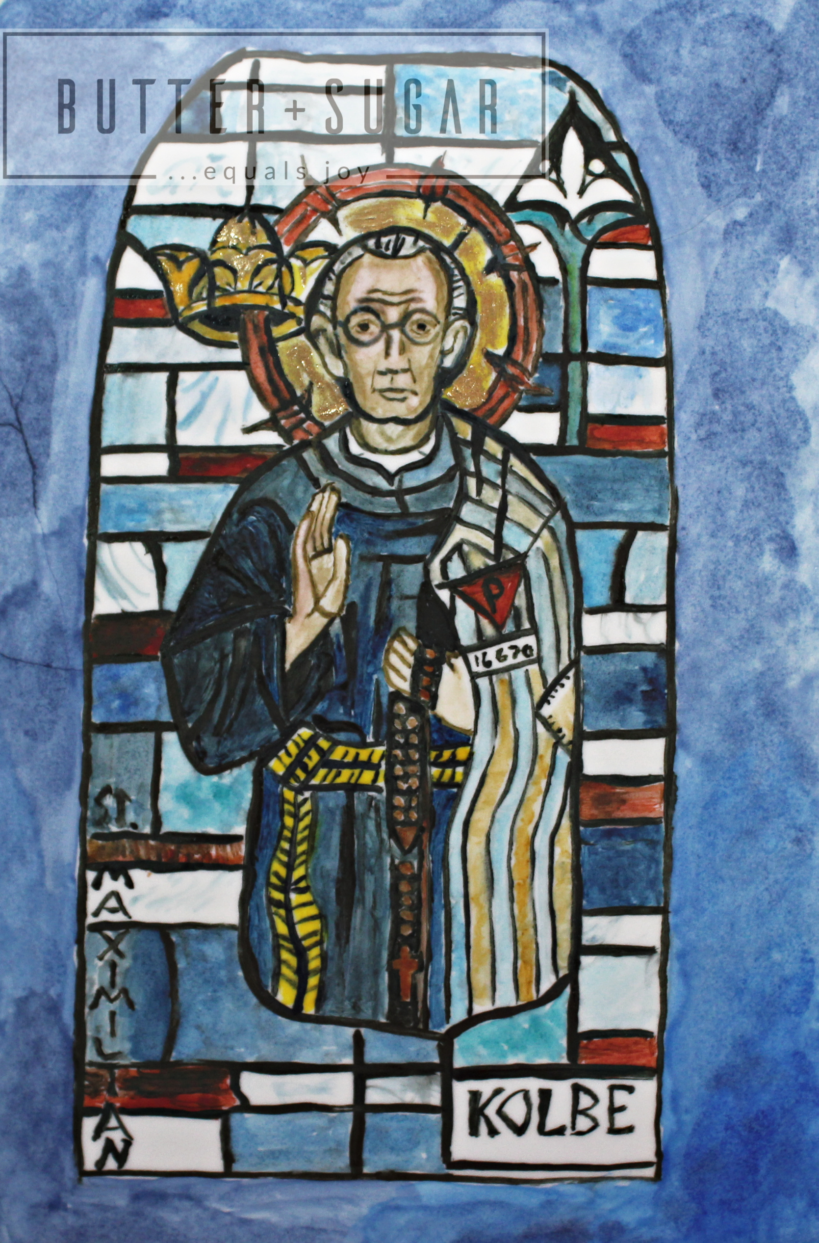 Hand-painted patron saint