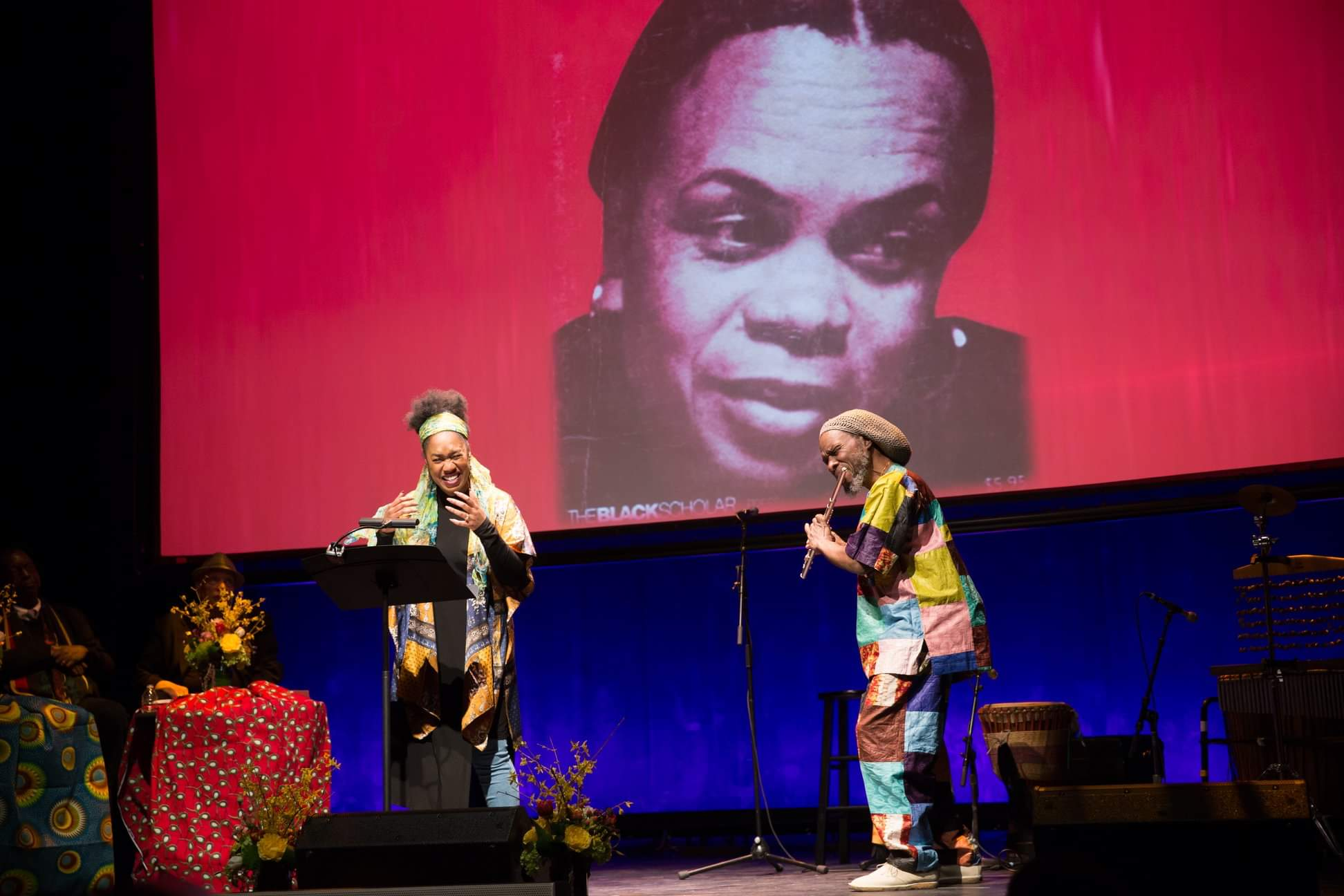 Tribute to Sonia Sanchez at The Schomburg Center for Research in Black Culture (April 2019) curated by Novella Ford and Khalilah Bates photo Chester Higgins
