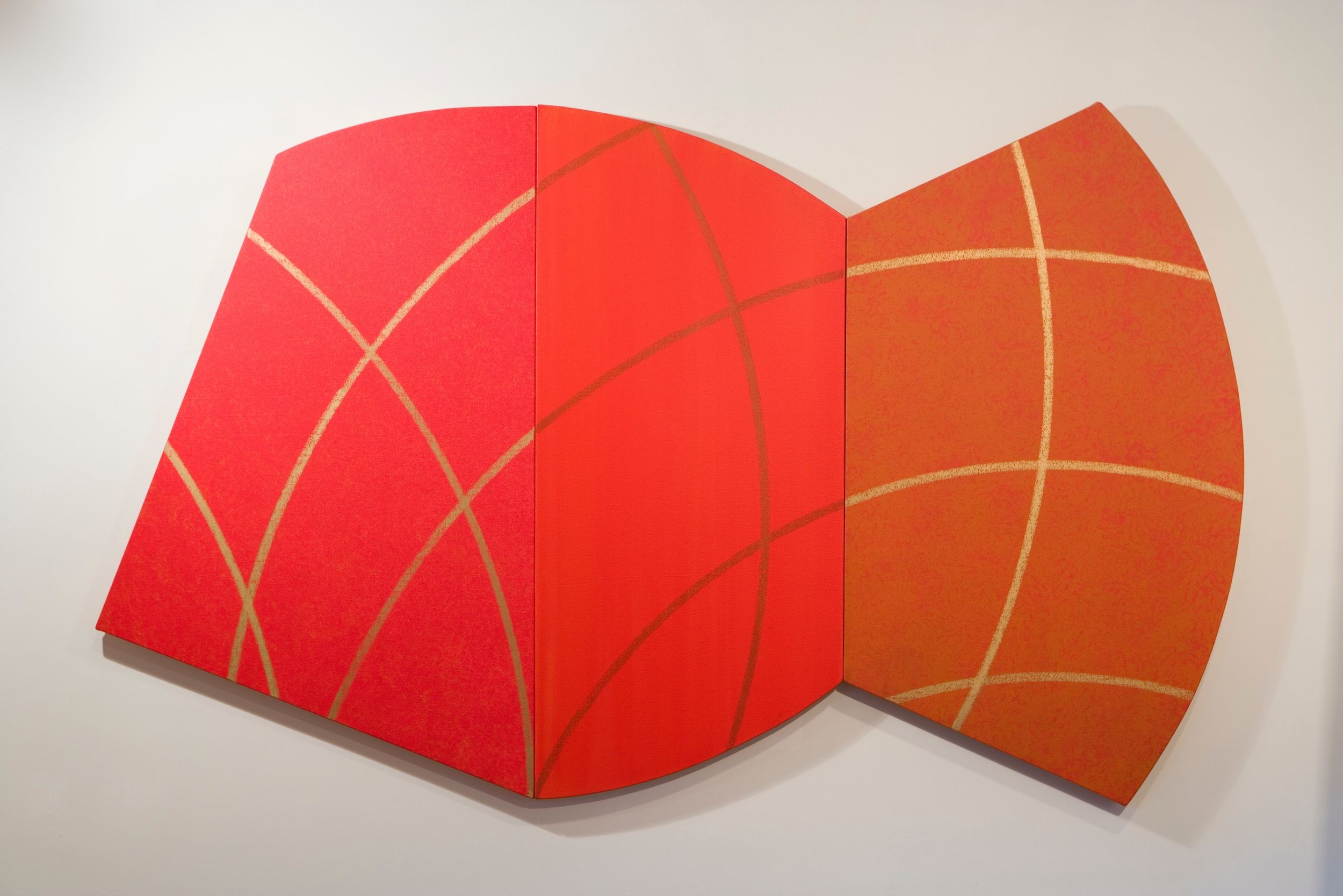 "Red Millenium, 2007, acrylic on panel, 78 ""x 48"""