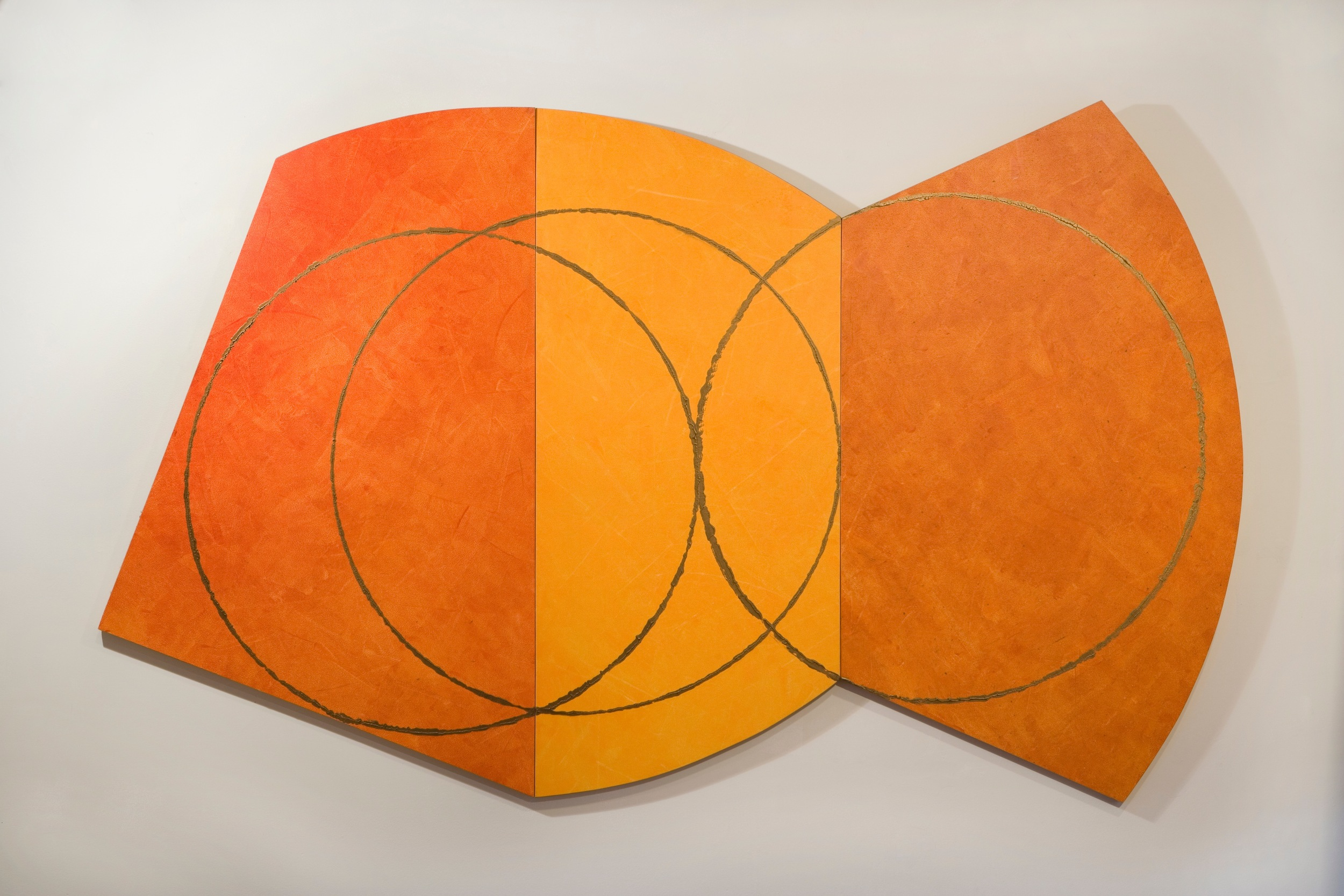 "Sacred Hoops 12, 2002, acrylic on panel, 78"" x 48"""
