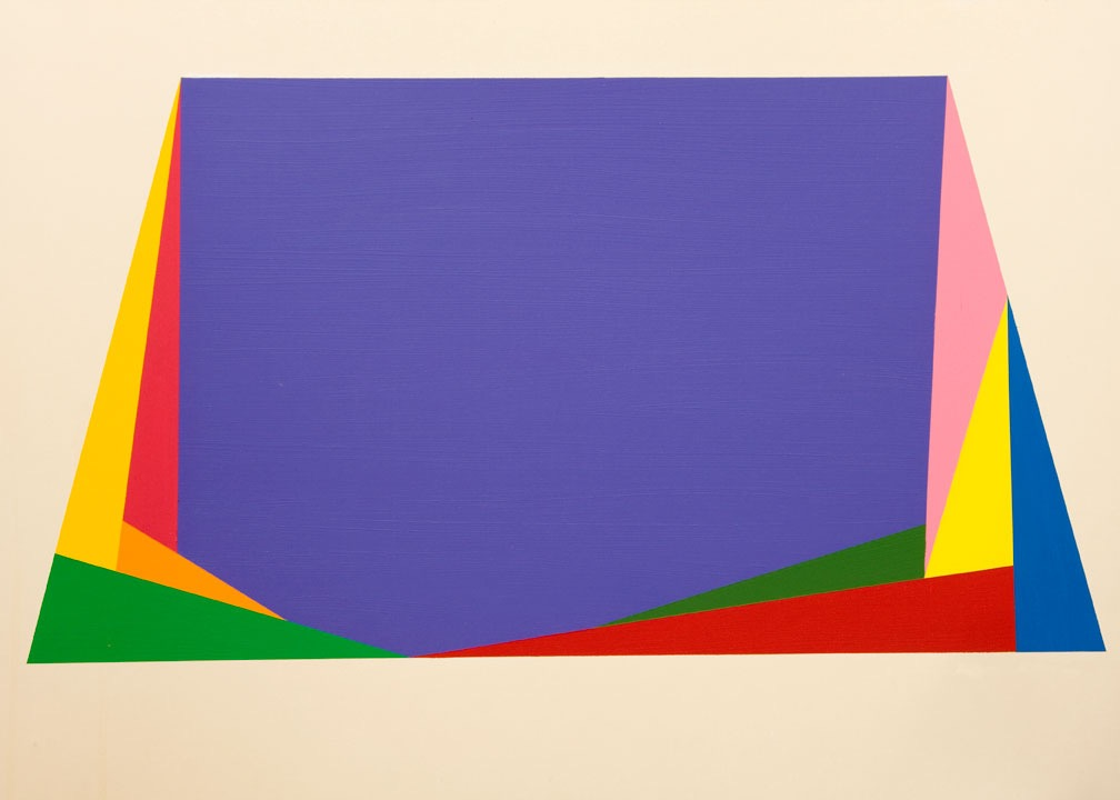 "Amargosa 2, 1976, acrylic on panel,48"" x 84"""