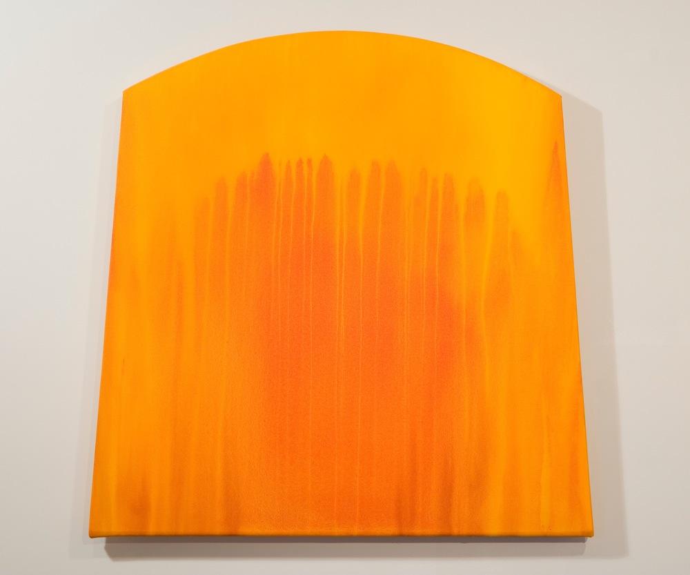 "Light Seeps #6, 2005, 37""x36"", acrylic on canvas"