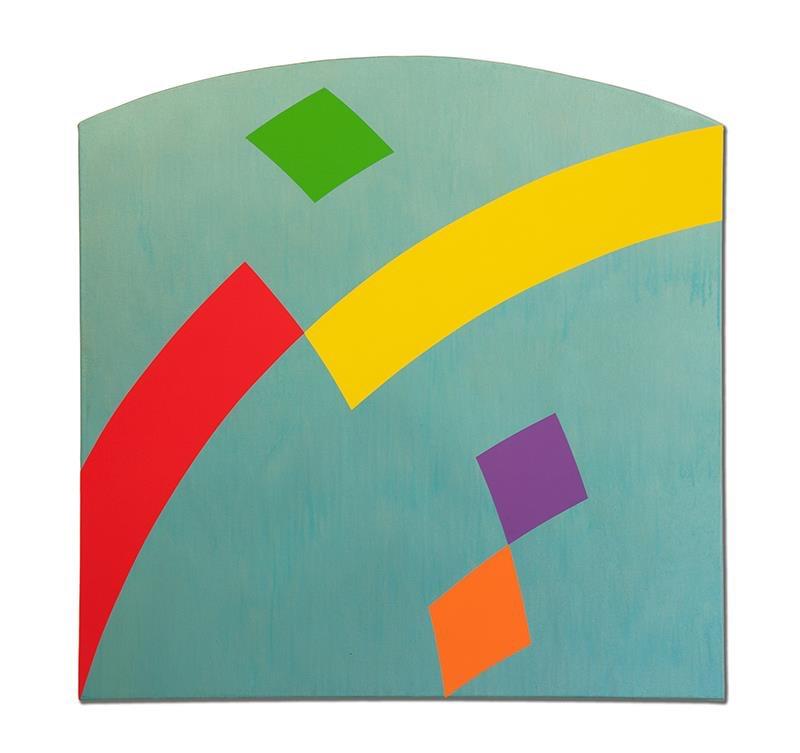 """Confluence 2, 2013, acrylic on canvas, 42"""" x 42"""""""