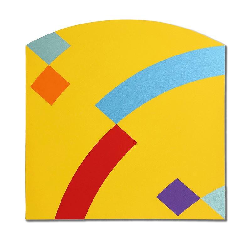 """Confluence 5, 2013, acrylic on canvas, 32"""" x 32"""""""