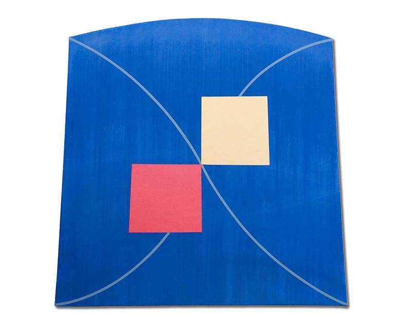 "Blue Pulsar, 2012, acrylic on canvas, 32"" x 32"""