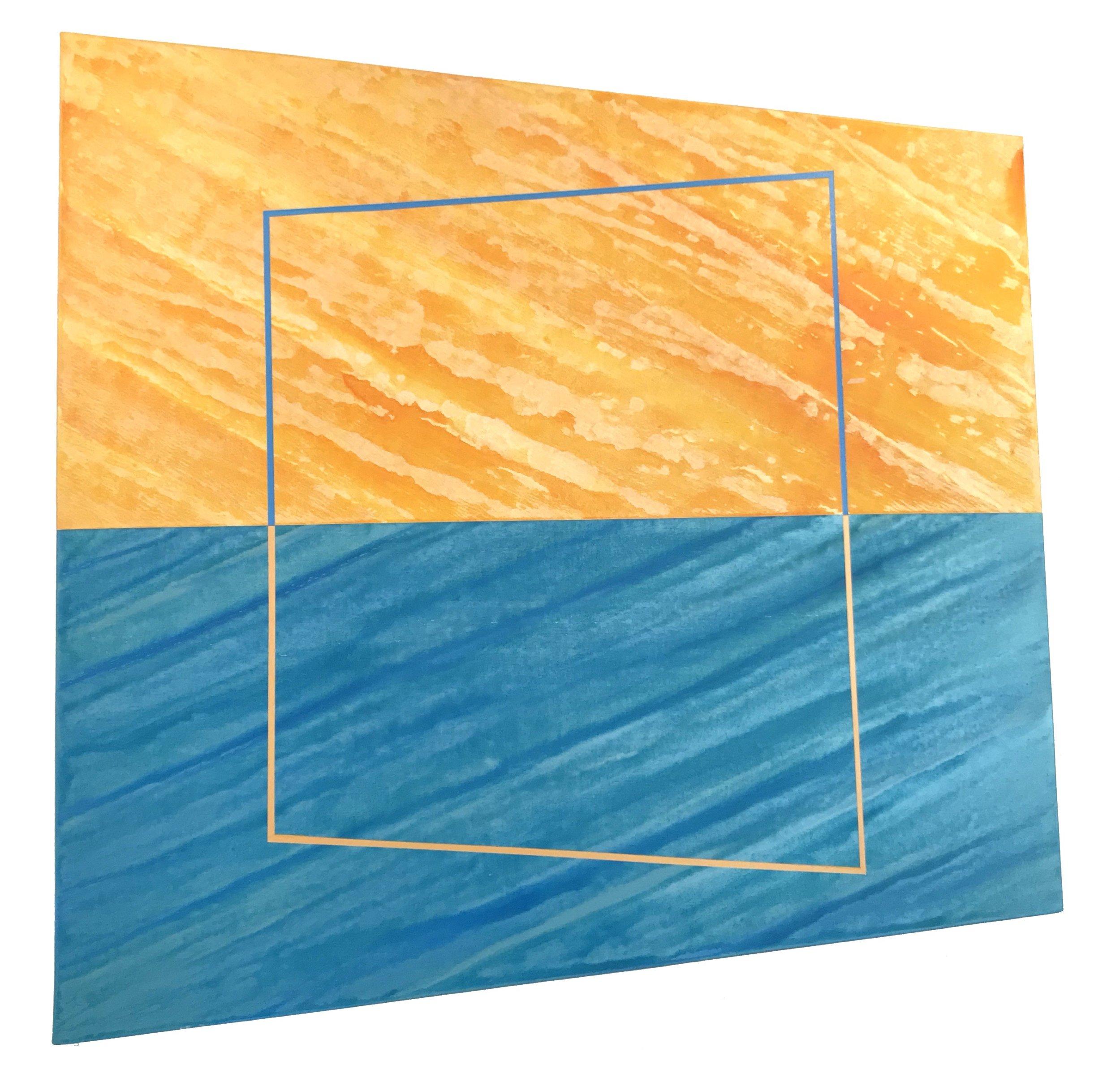 "Torque 1, 48"" x 48"", 2018, acrylic on canvas over panel"