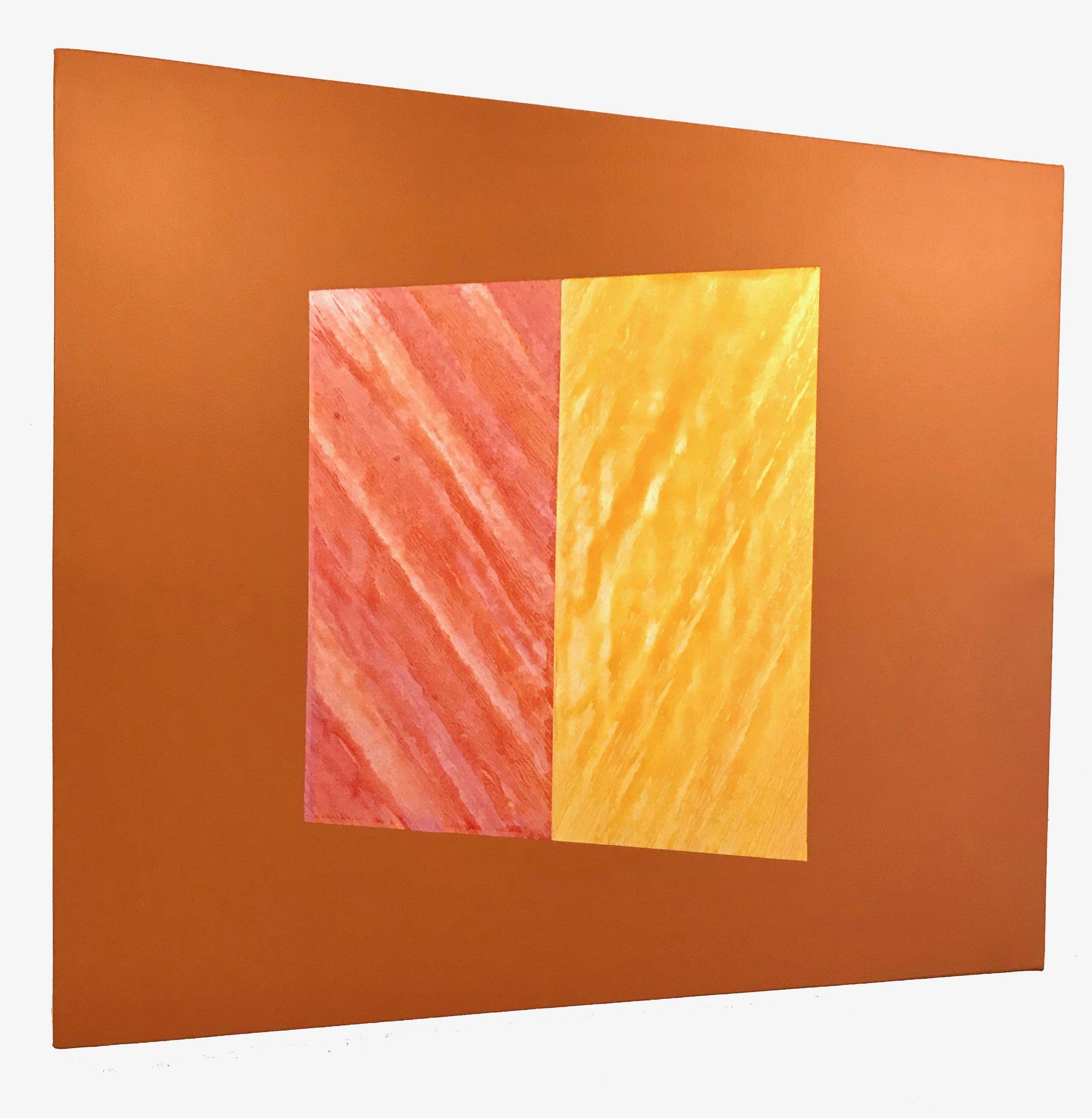"Torque 2, 2018, 48"" x 48"", acrylic on canvas over panel"