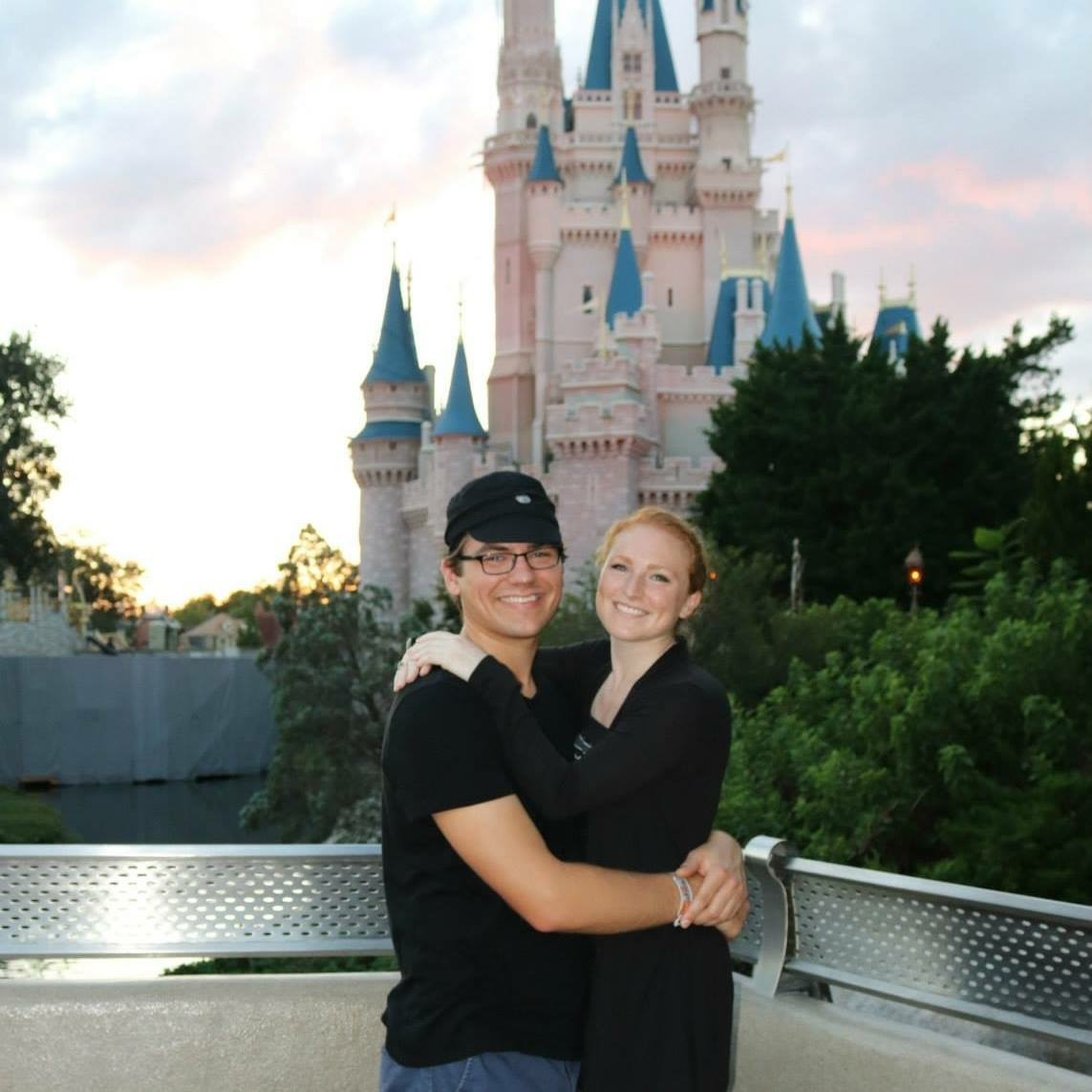 the most magical Disney castle couple shot