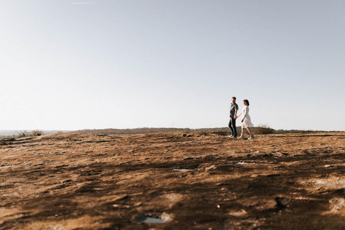 breathtaking photos of couple on Arabia Mountain Georgia