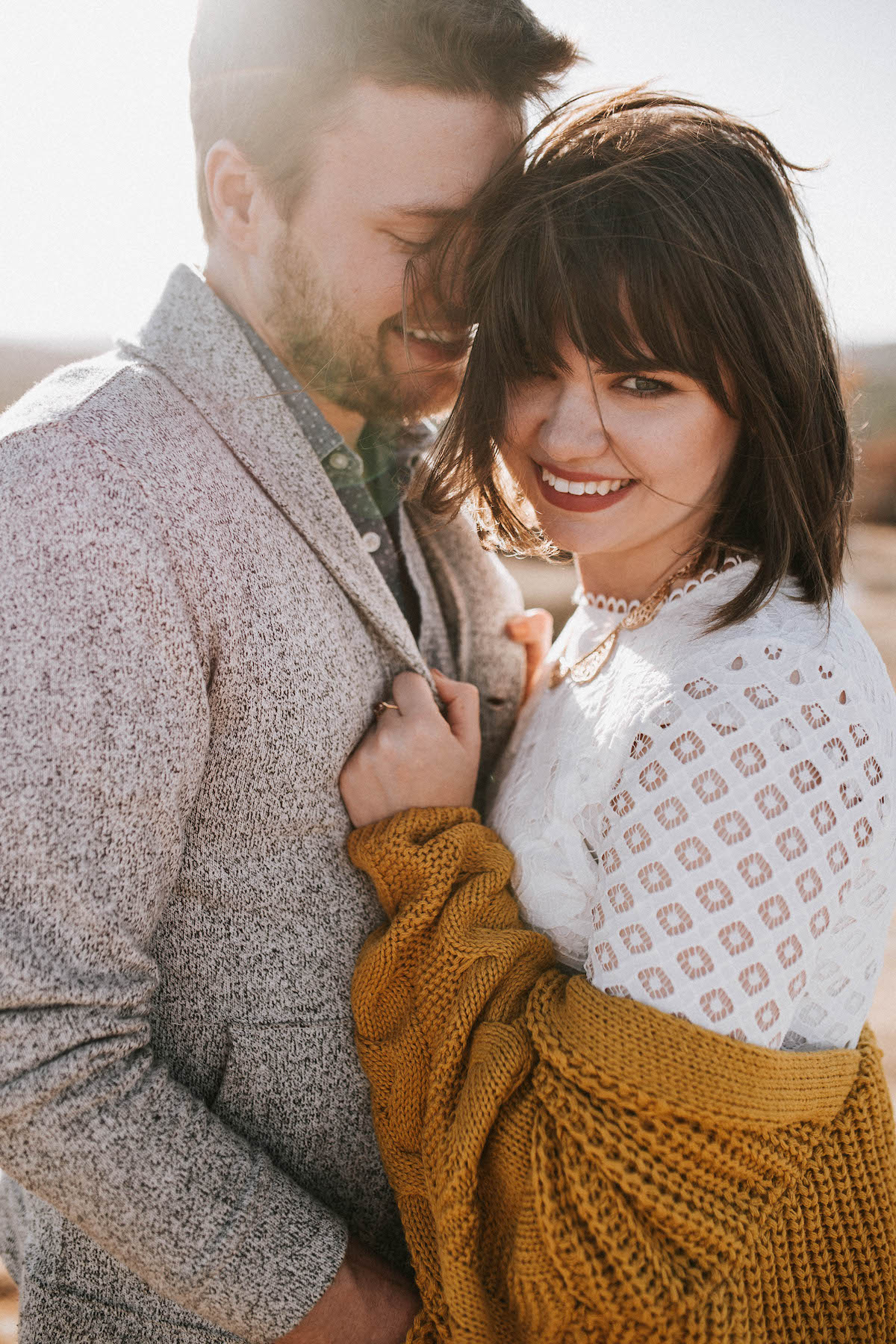 neutral color palette styles for couples photoshoot in fall