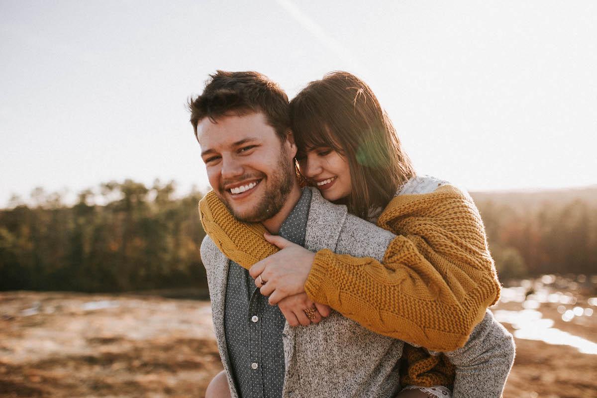 romantic date adventure on Arabia Mountain in Georgia