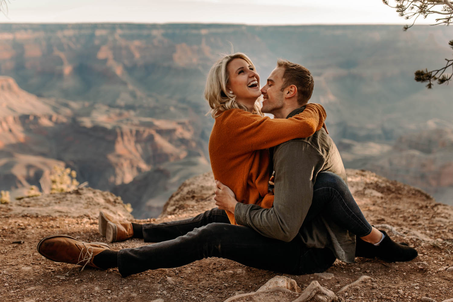 Grand Canyon Photographer Sunrise Adventure Couple Session-24.jpg