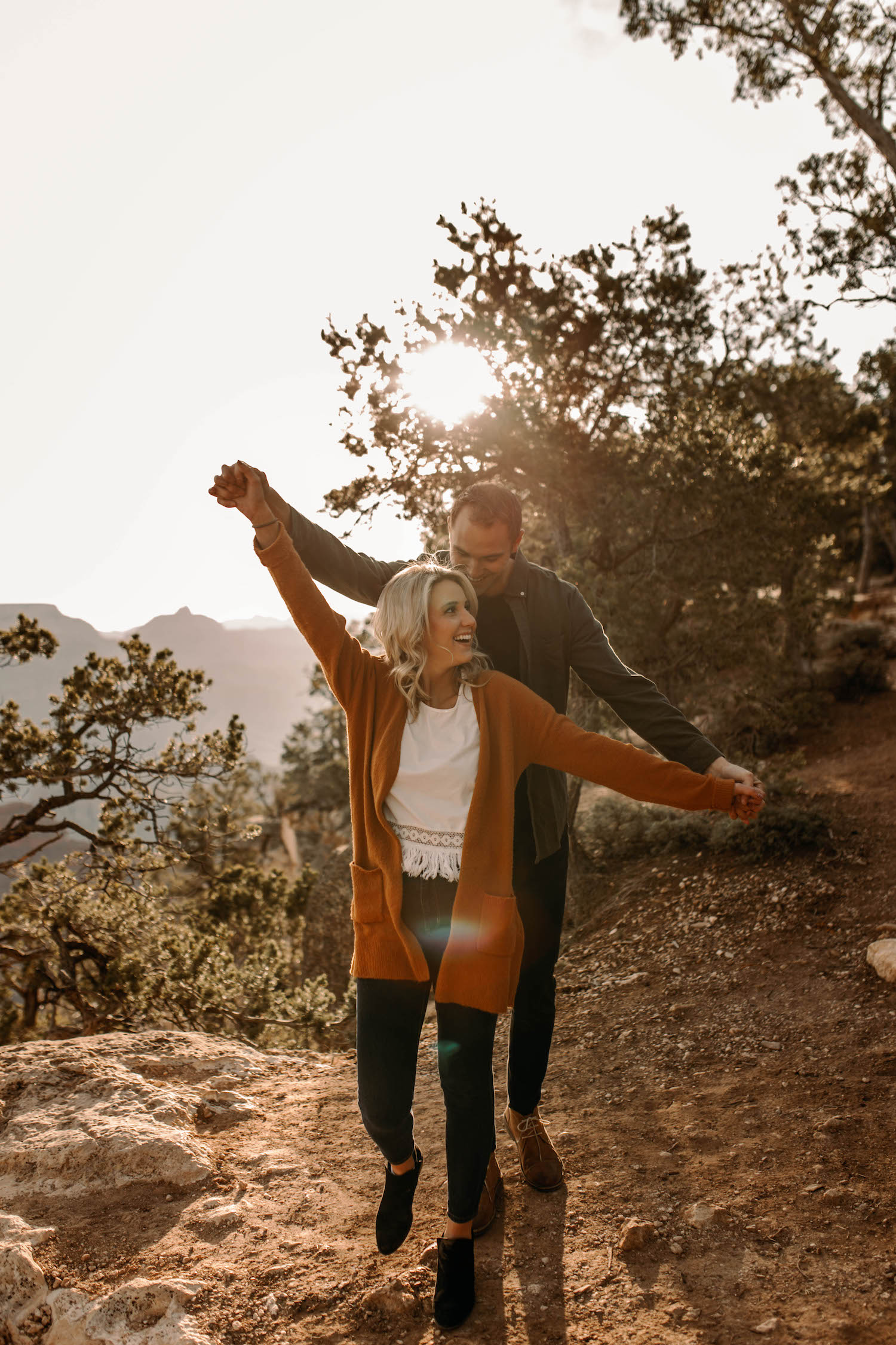 Grand Canyon Sunrise Adventure Couple Session-35.jpg