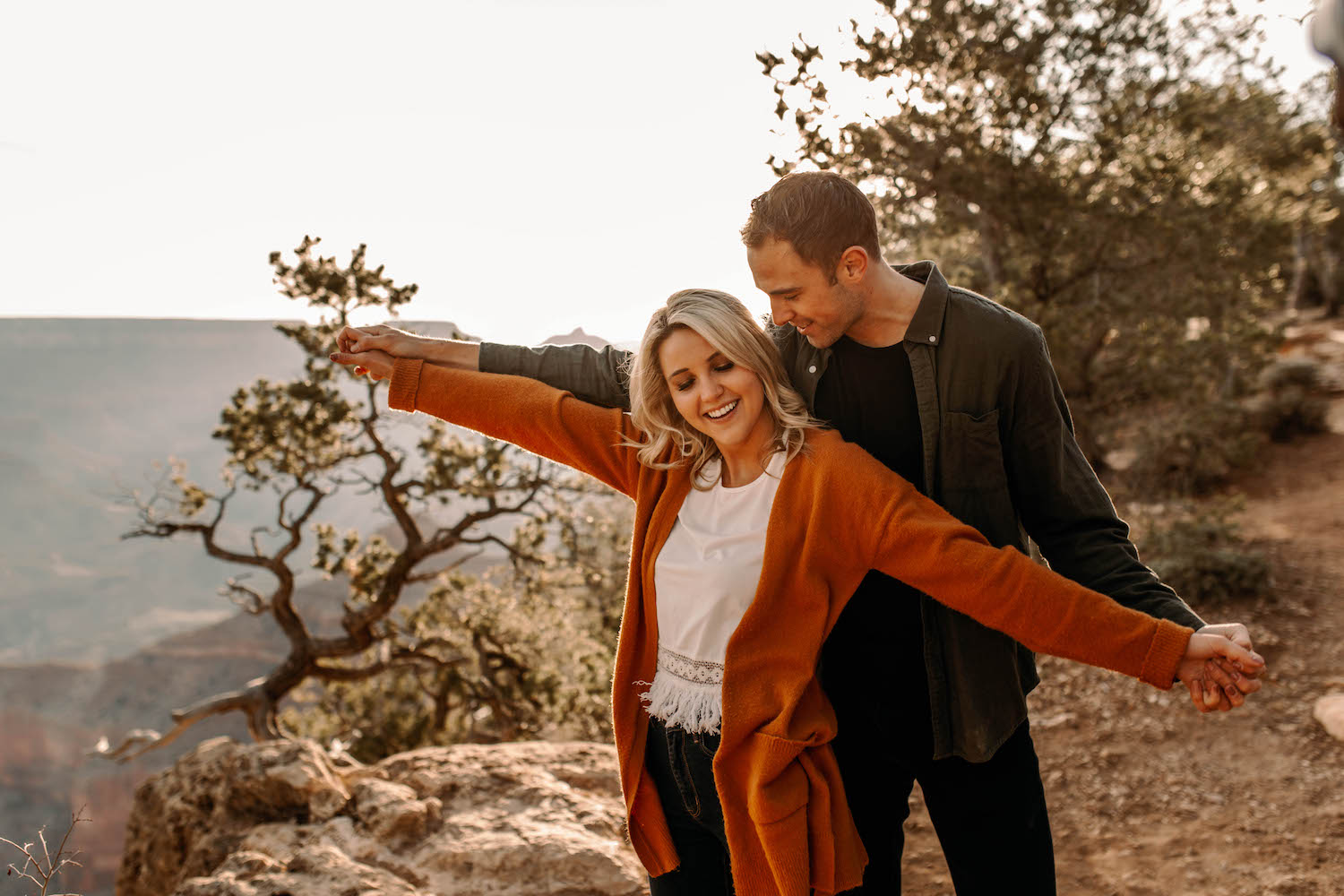 Grand Canyon Photographer Captured Sunrise Adventure Couple Session-38.jpg
