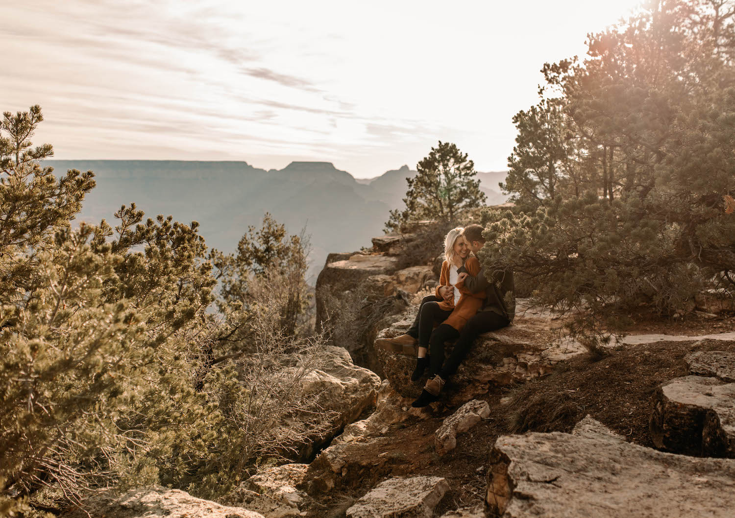 Grand Canyon Sunrise Adventure Couple Session-55.jpg