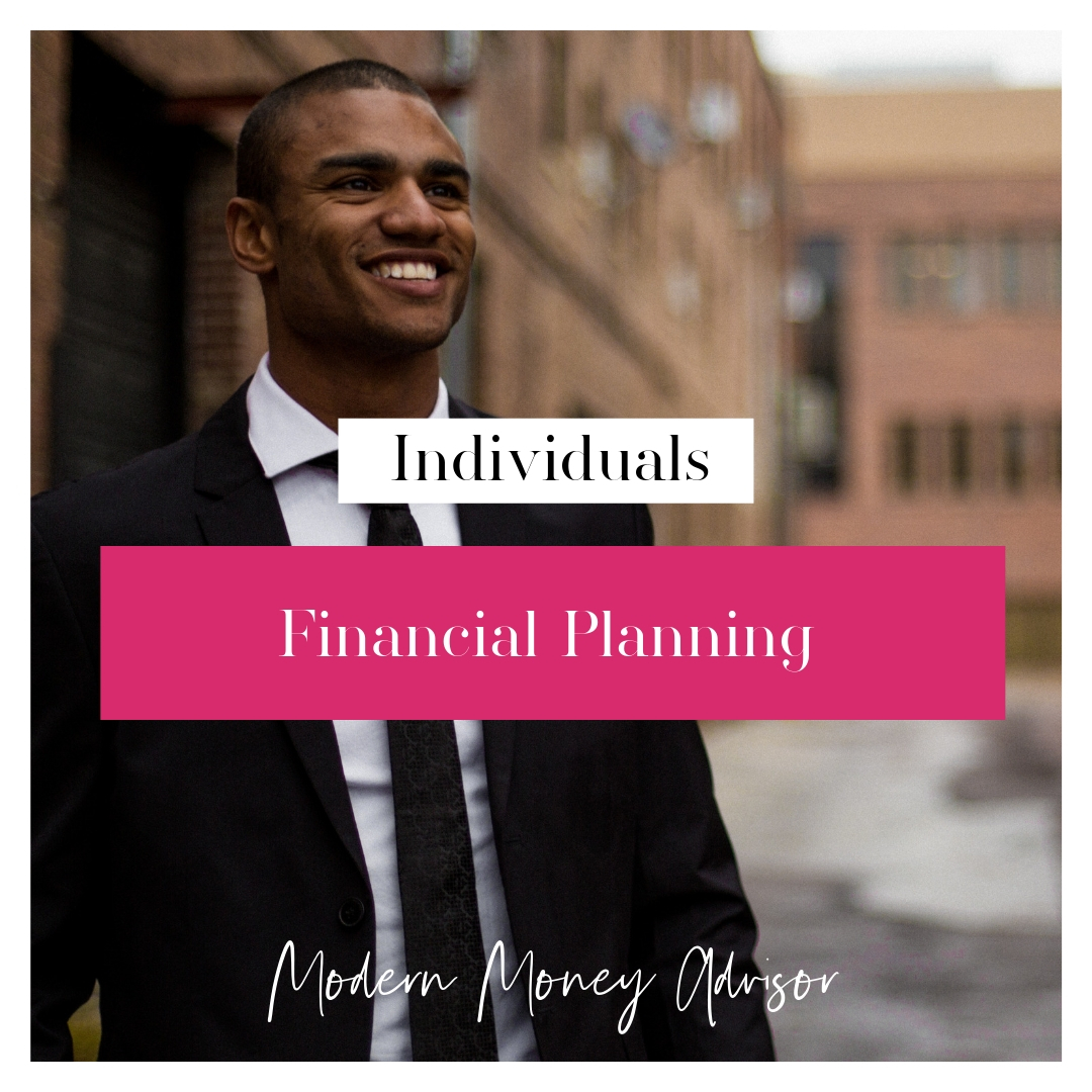 $1000 Upfront + $500/mo subscription - month to month    Individuals - Financial Planning for Individuals   Financial planning package for working professionals focused on wealth accumulation and debt elimination. See chart below for more details.