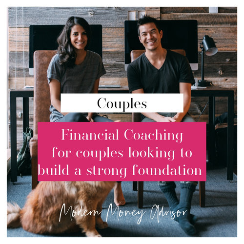 Financial Coaching for Couples. $350/mo, no upfront fee, month to month subscription