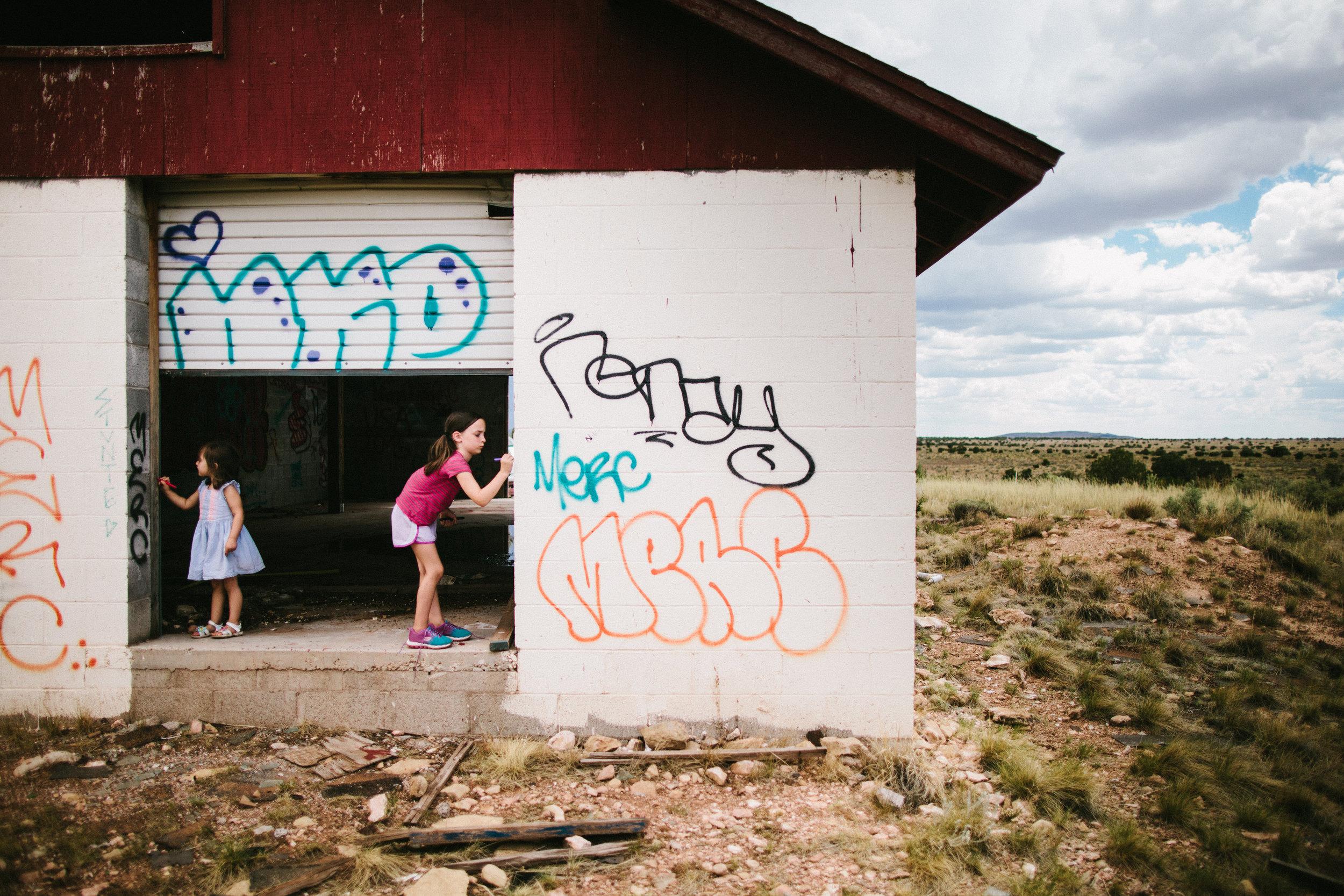 run down barn, somewhere in Arizona.
