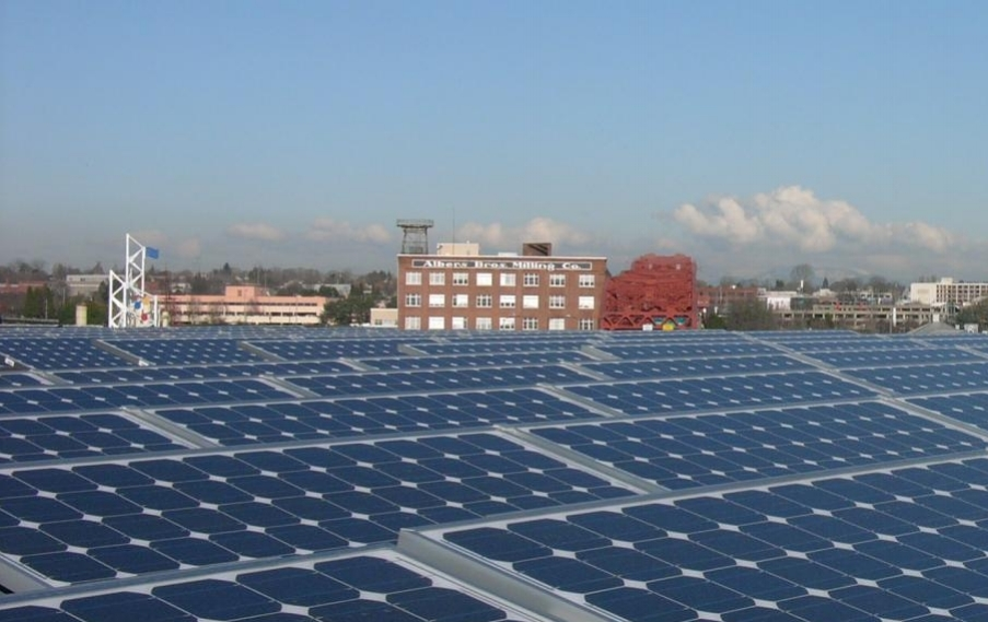 First Urban Core Solar pannels installed