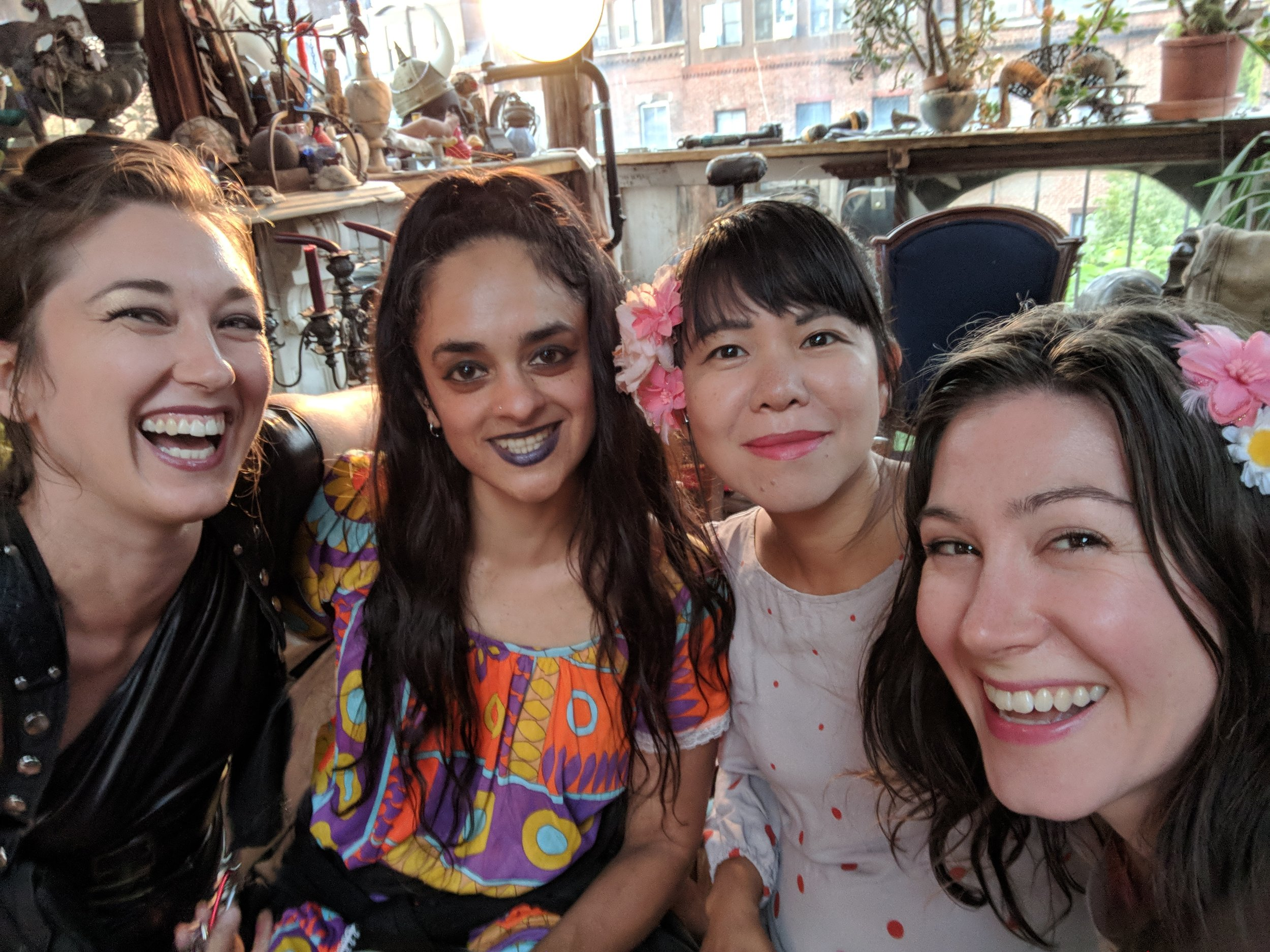 Crystal Bright, Mali, Miwa & Rebekah at the Cloud Club