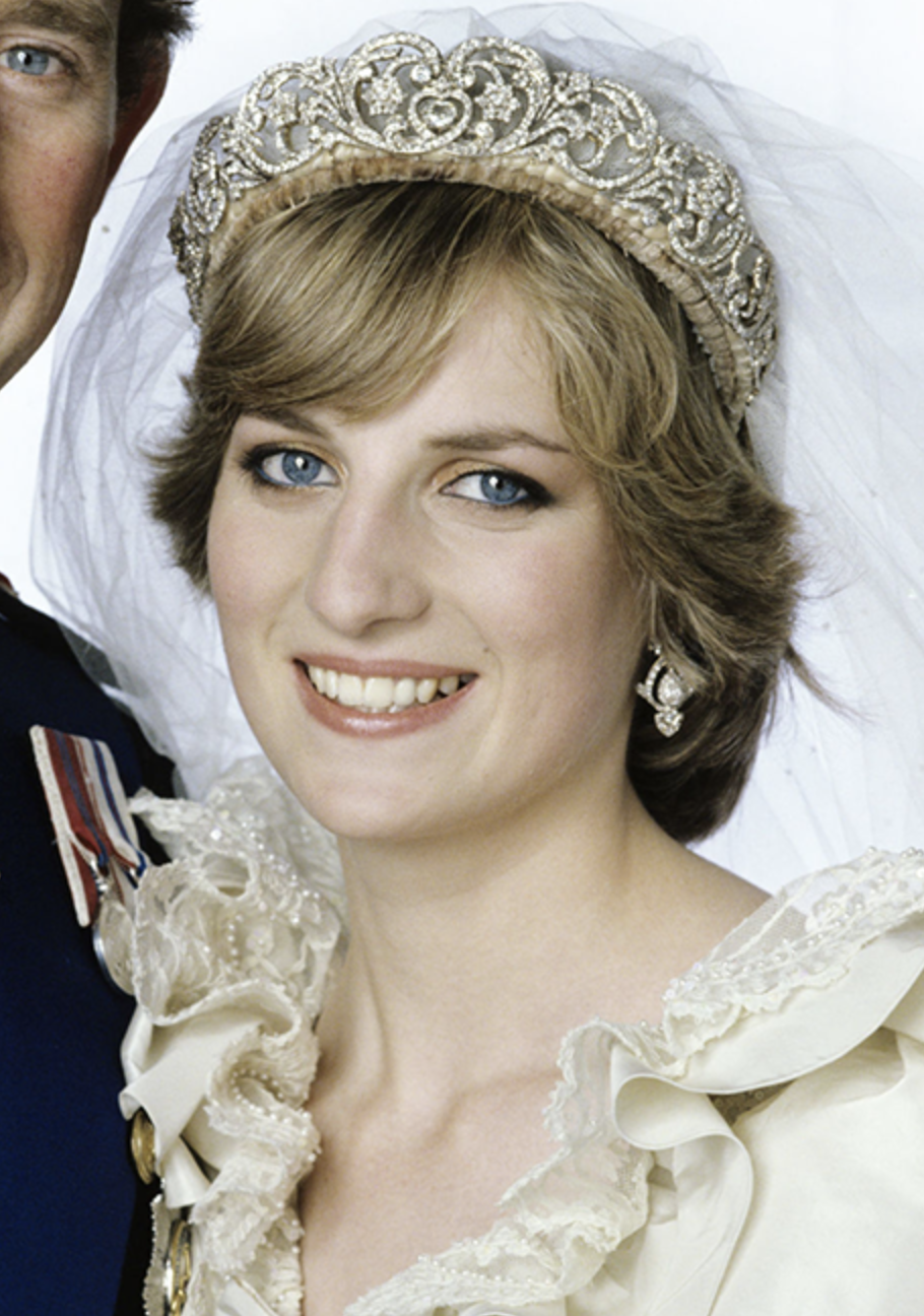 Spencer Tiara - The stunning tiara worn by Princess Diana on her wedding day to Prince Charles had been in the Spencer family for almost a century at the time. It was worn by Diana's mother and sisters on their wedding days as well. It still belongs to the Spencer family and they've offered it to Meghan to wear on her wedding day.