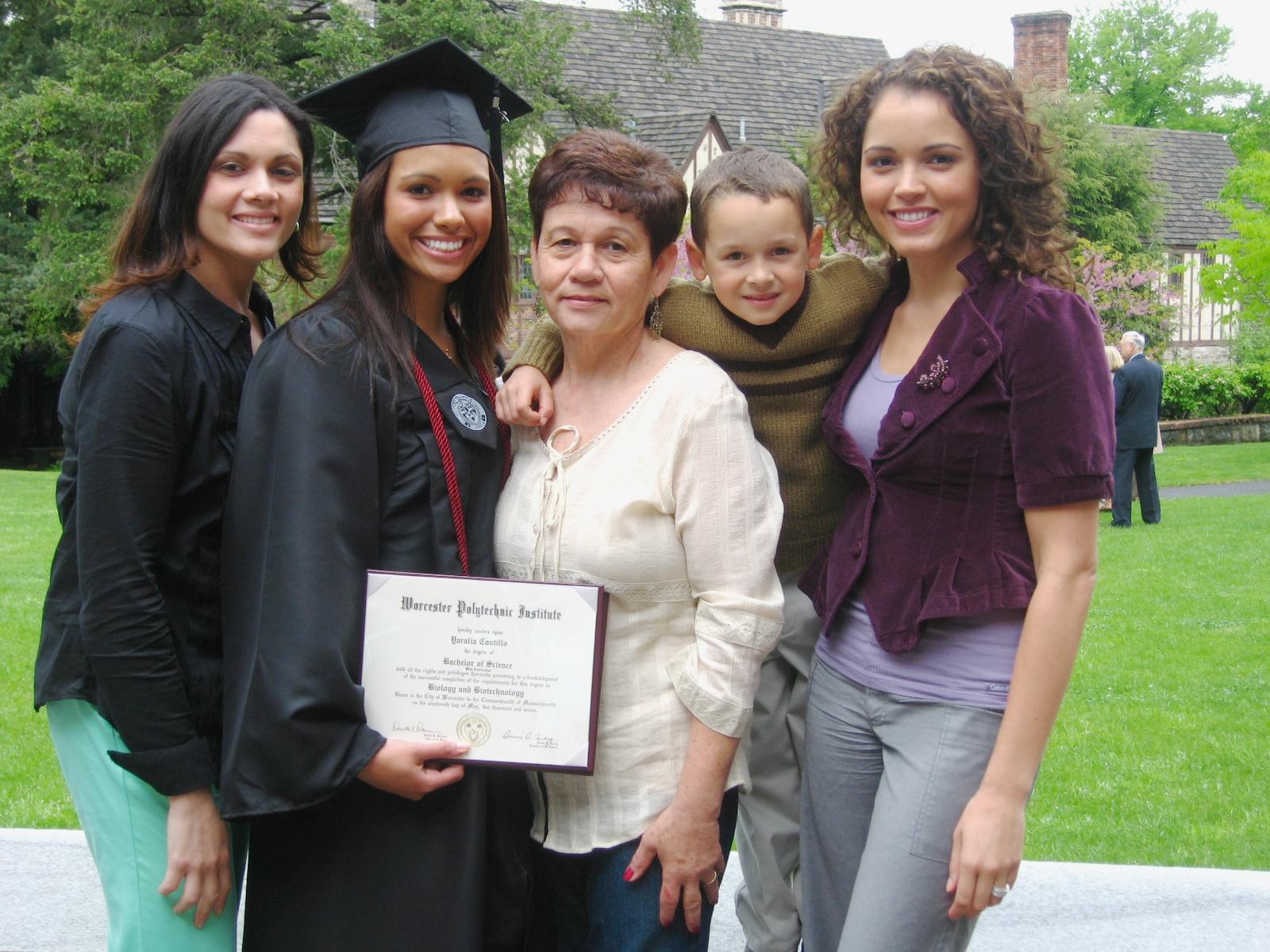 - My little sister, Yaralia's, college graduation.