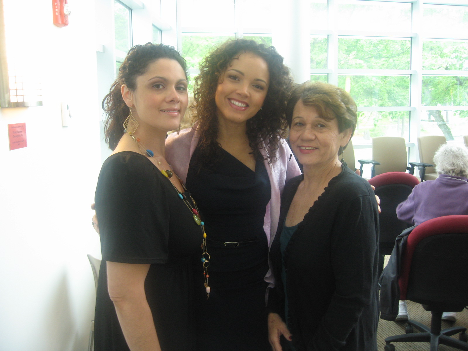 - My big sister, Marisele, mom, and I during a speaking engagement at my alma matter, Endicott College in Beverly, MA.