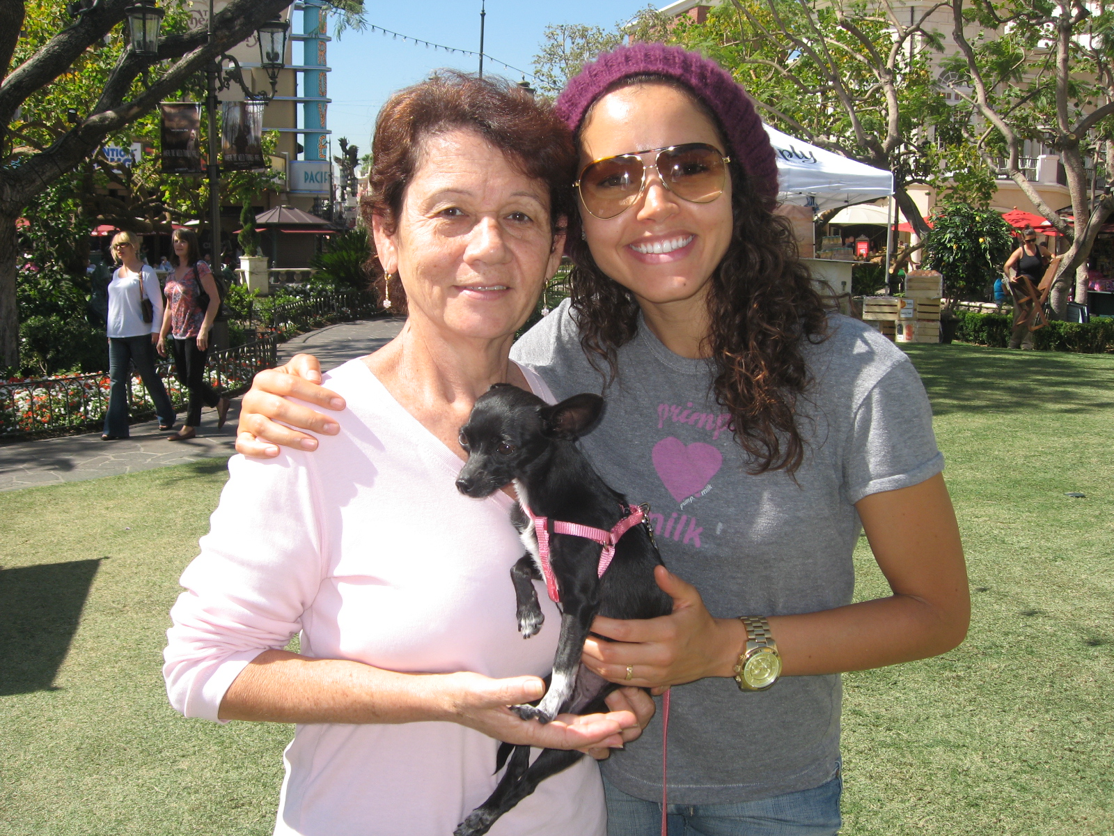- Mom rescued her sweet little Luna from a Los Angeles animal shelter during one of her last visits to see me in CA! Luna was her baby and she took her everywhere!