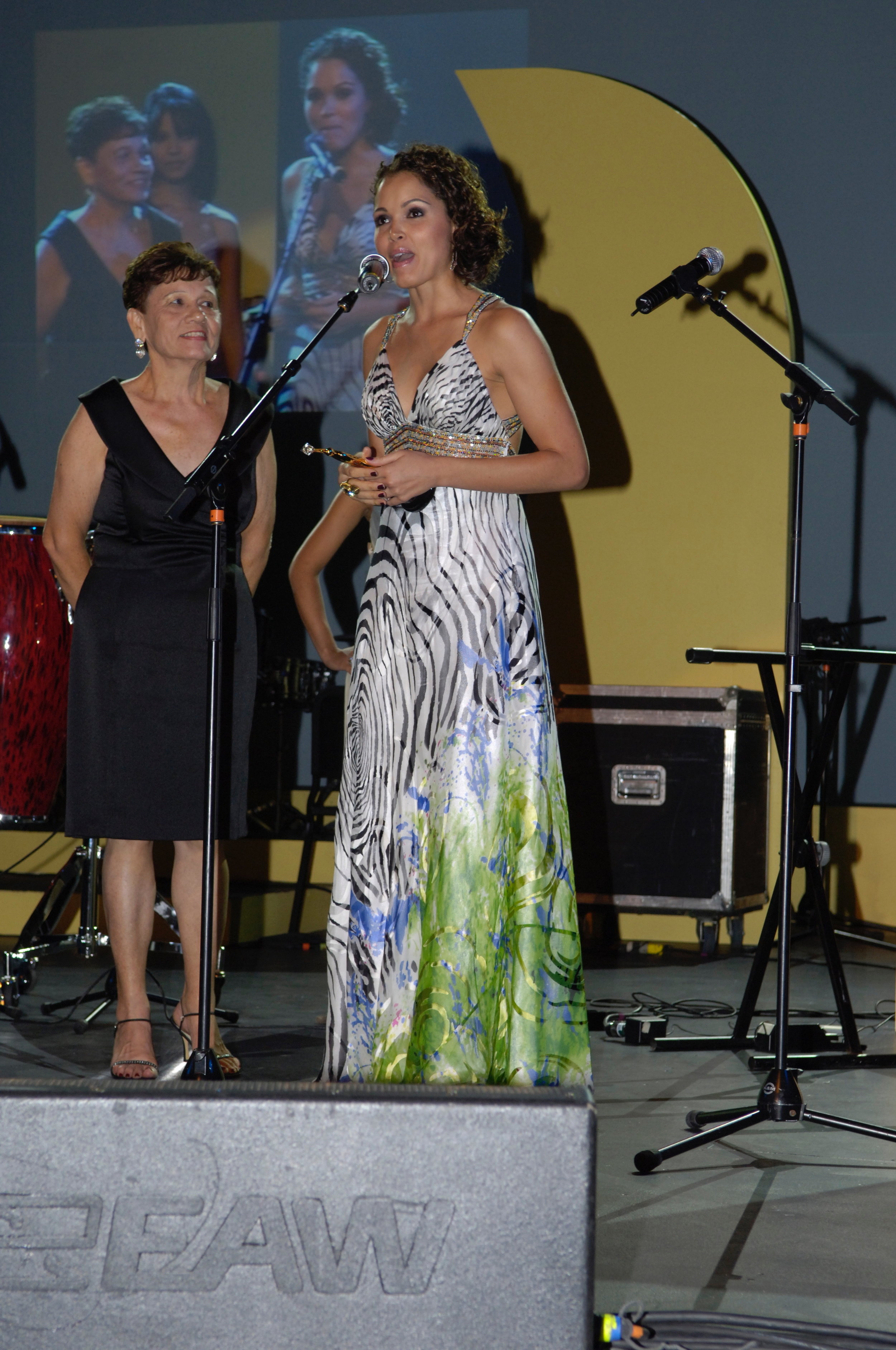 - I received an award at the Hispanic Heritage Awards and brought my mom on stage to dedicate the award to her.