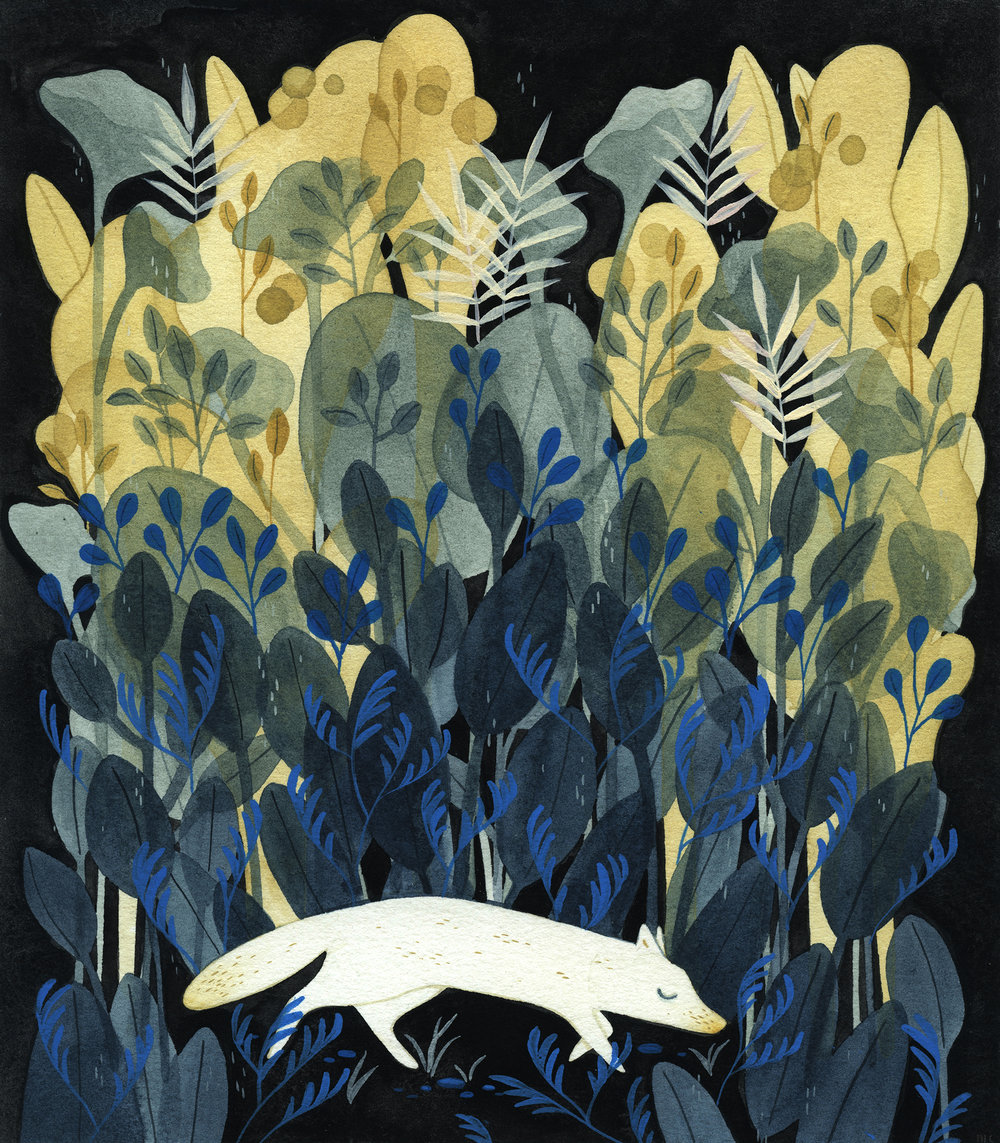 """""""Fox"""" by Maggie Chiang for Giant Robot  Formations  show. (Image courtesy of artist)"""