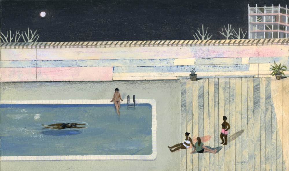 """Late Night Swim"" by Sally Deng. (Image courtesy of artist)"