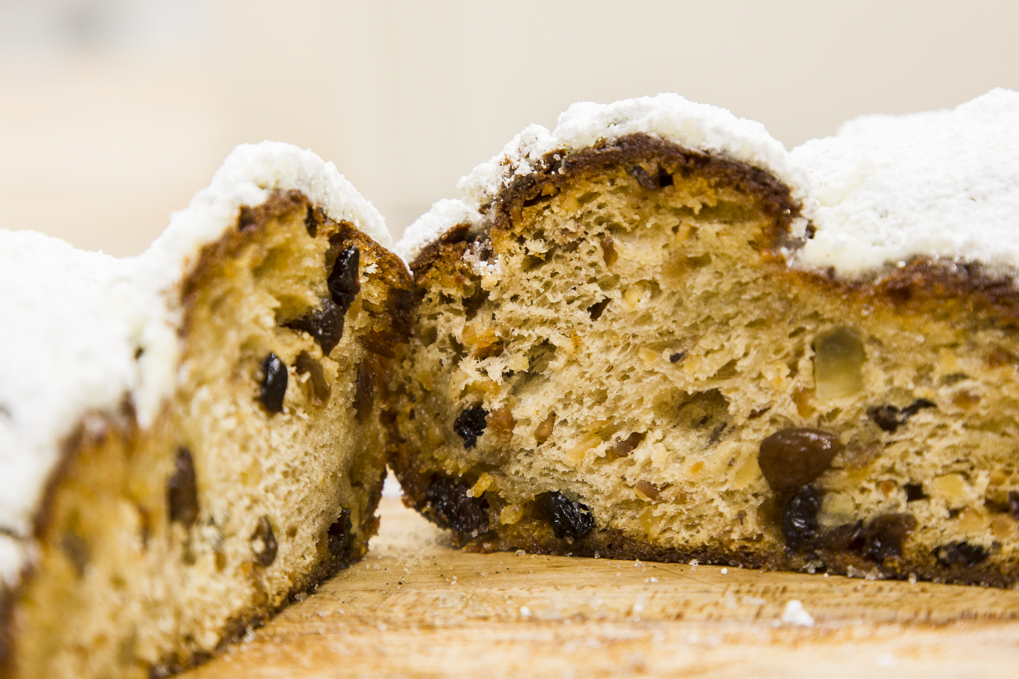 traditional Christmas Stollen (available mid October - New Years Eve) photo taken by Judy LaVerde