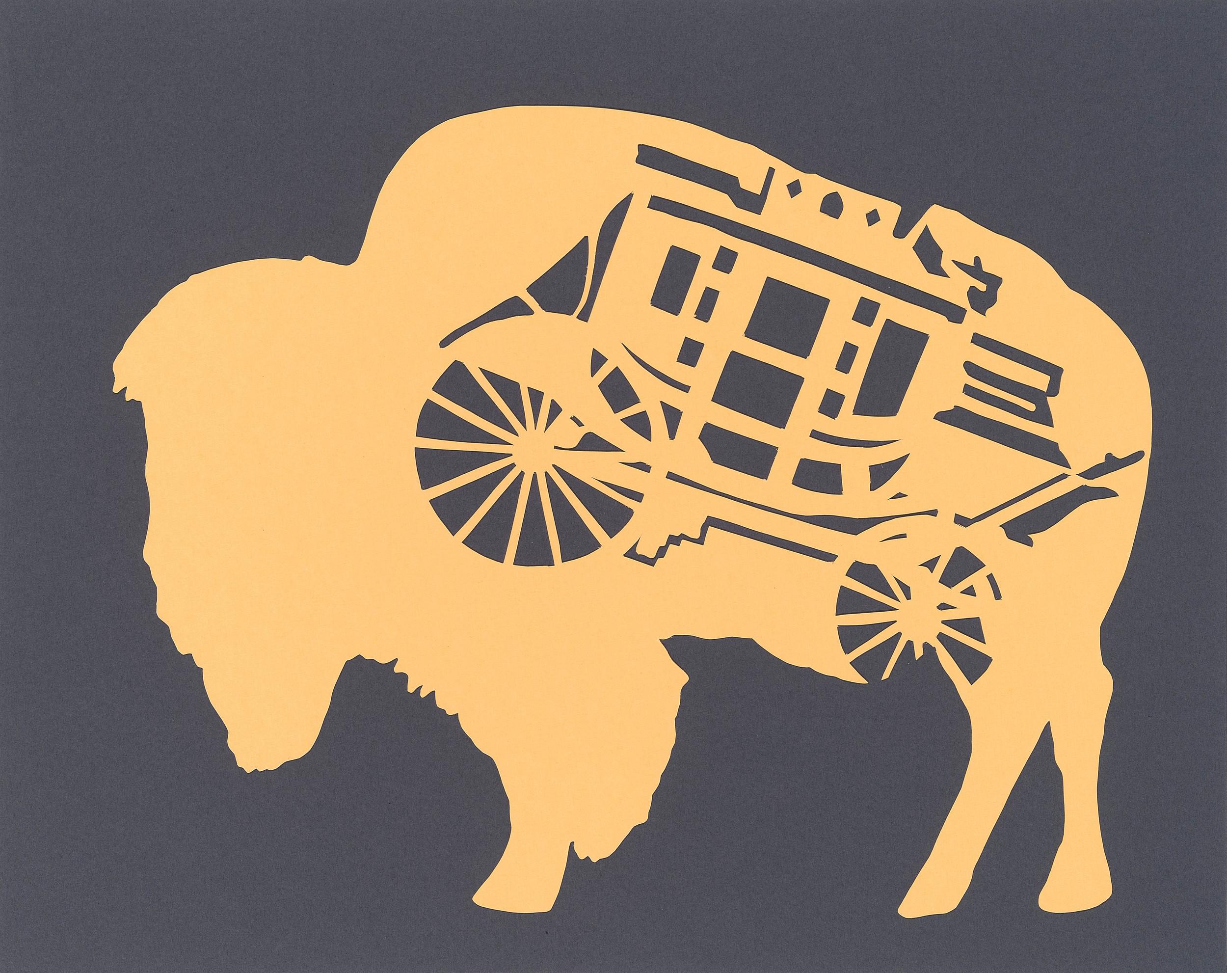 Staged Bison
