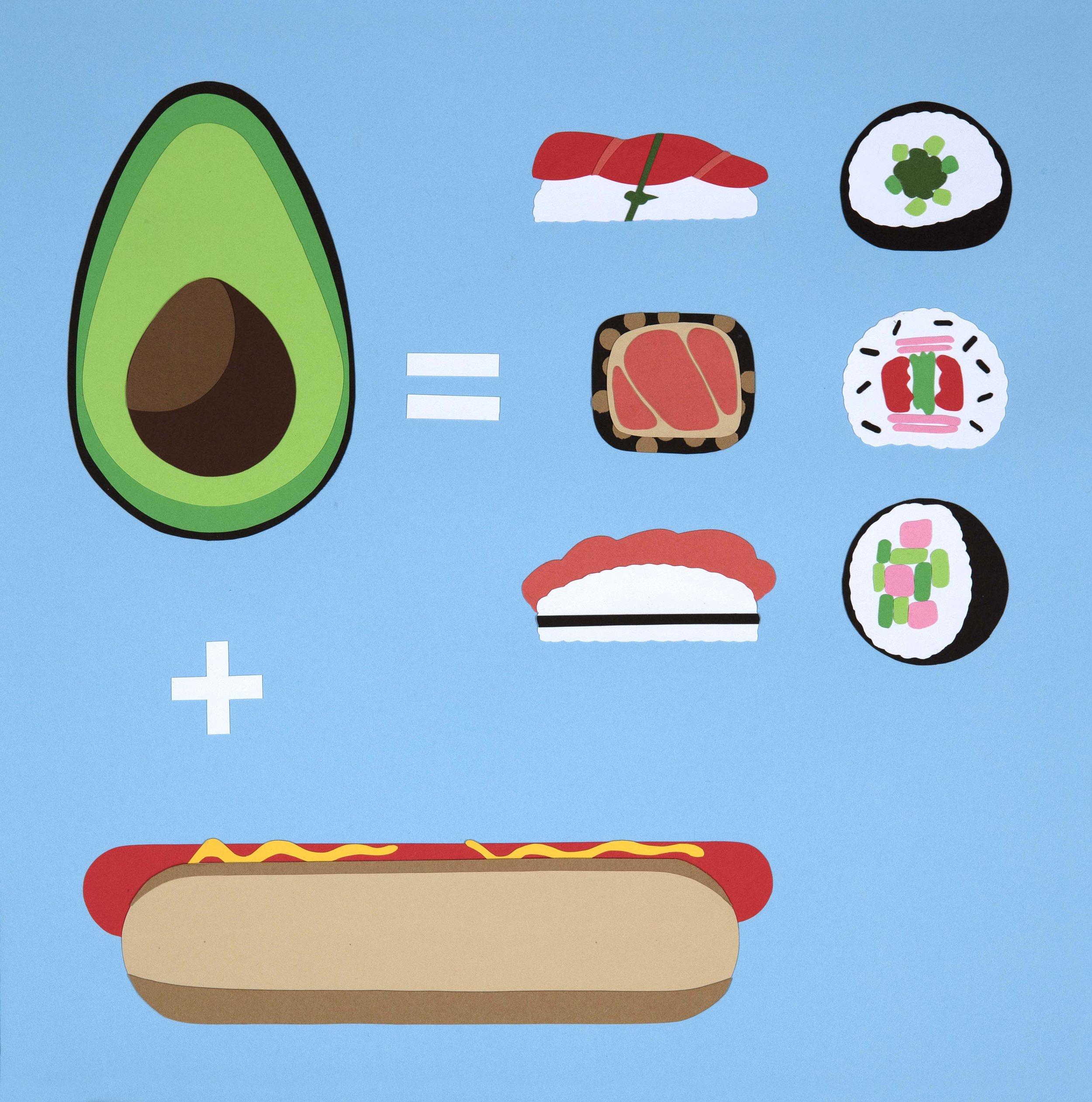 Hot Dog + Avocado = Sushi
