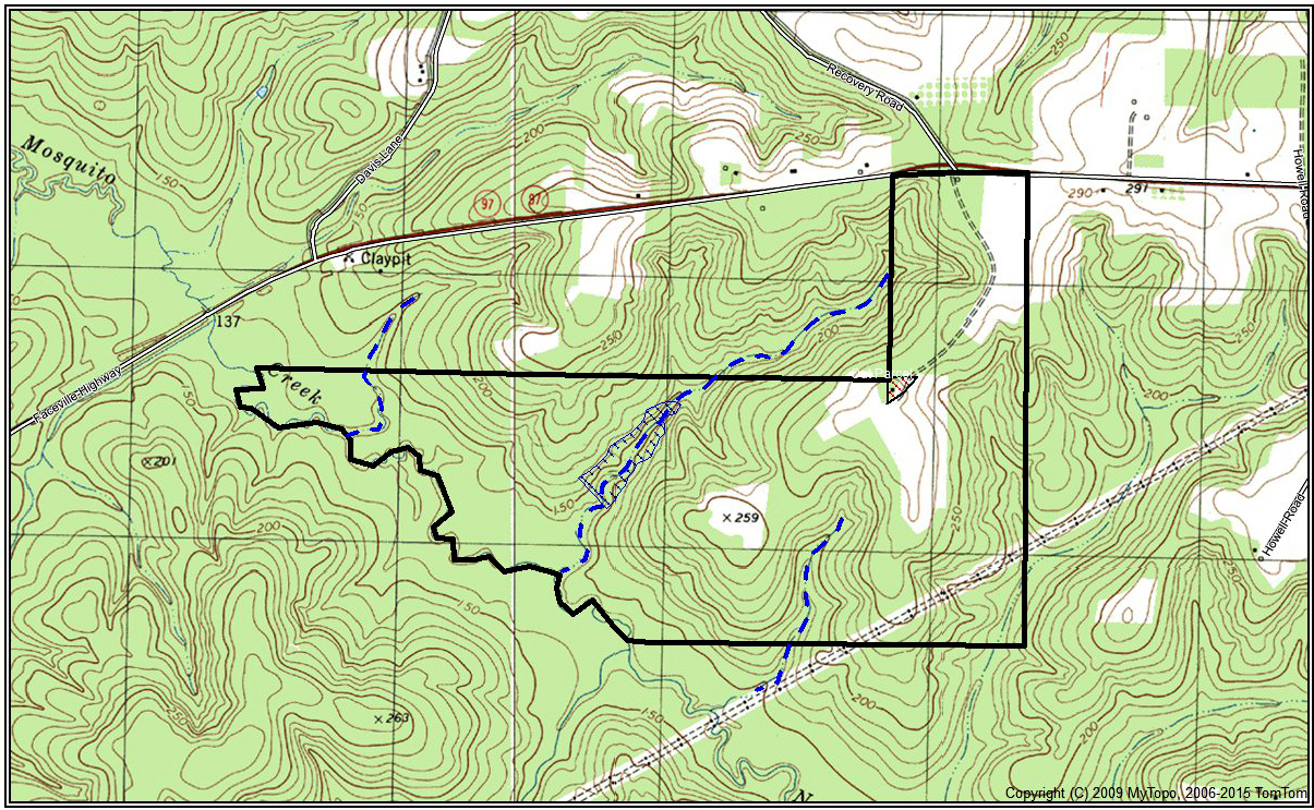 topographic map for Recovery Camp
