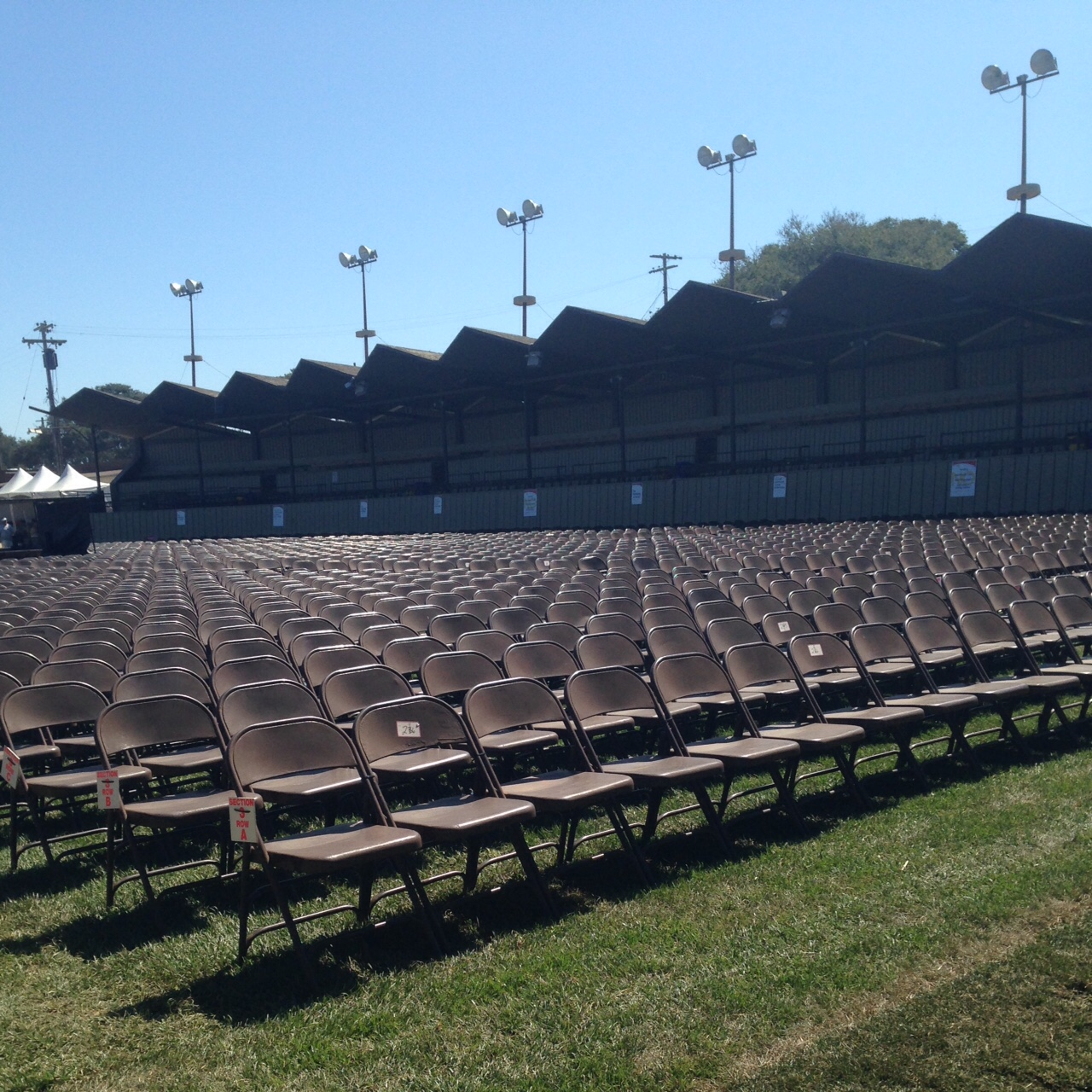 Chairs at the Jimmy Lyons Stage, Monterey Jazz Festival