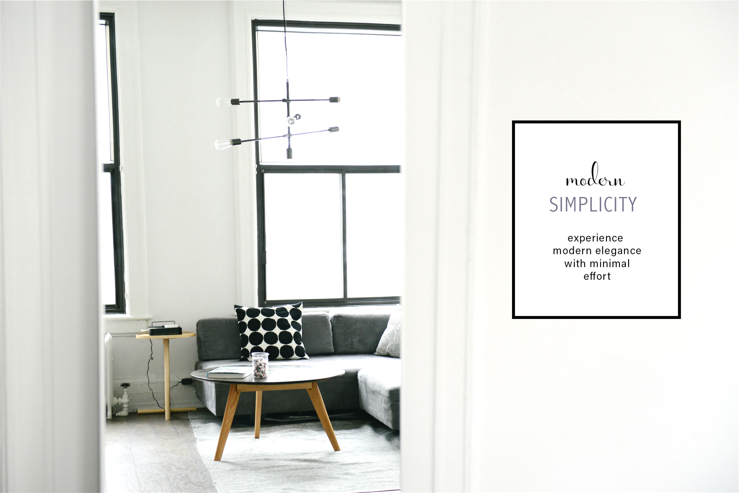 Minimal furniture design catalog graphic style (c) Becca Verna Style Shop