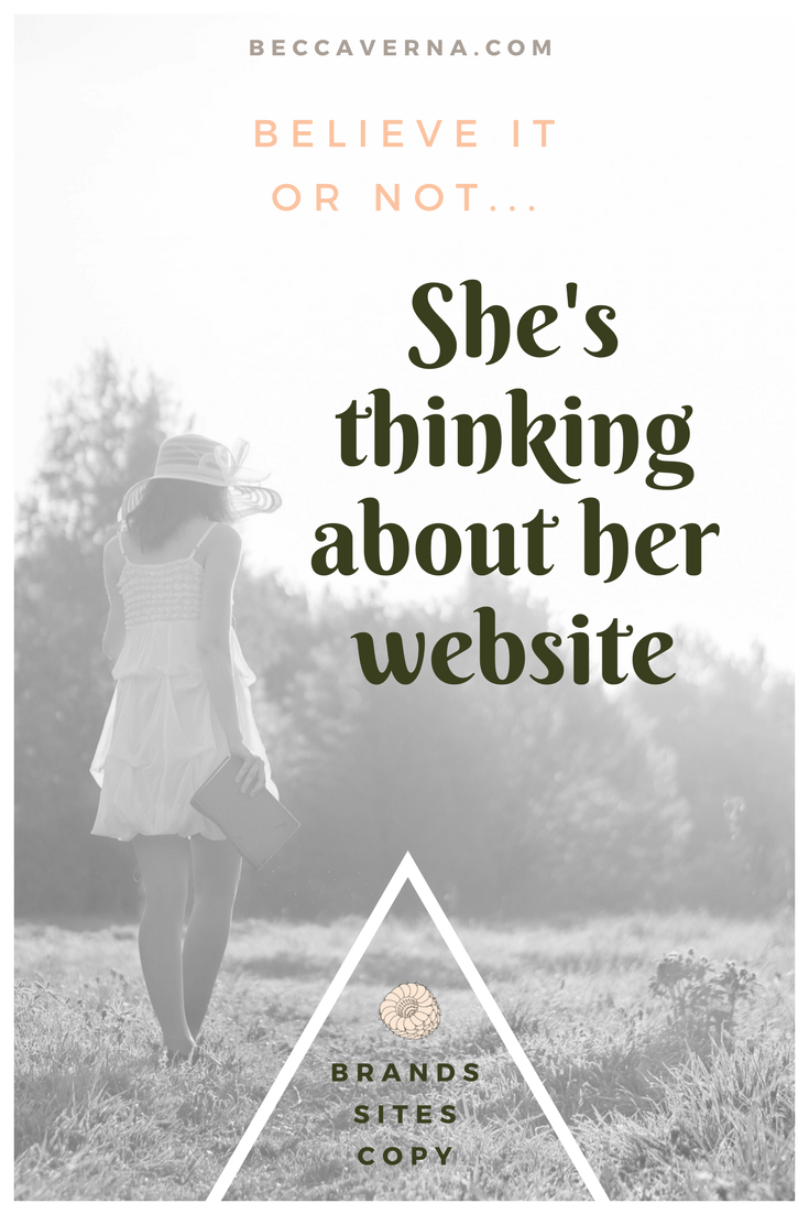 She's thinking about her website